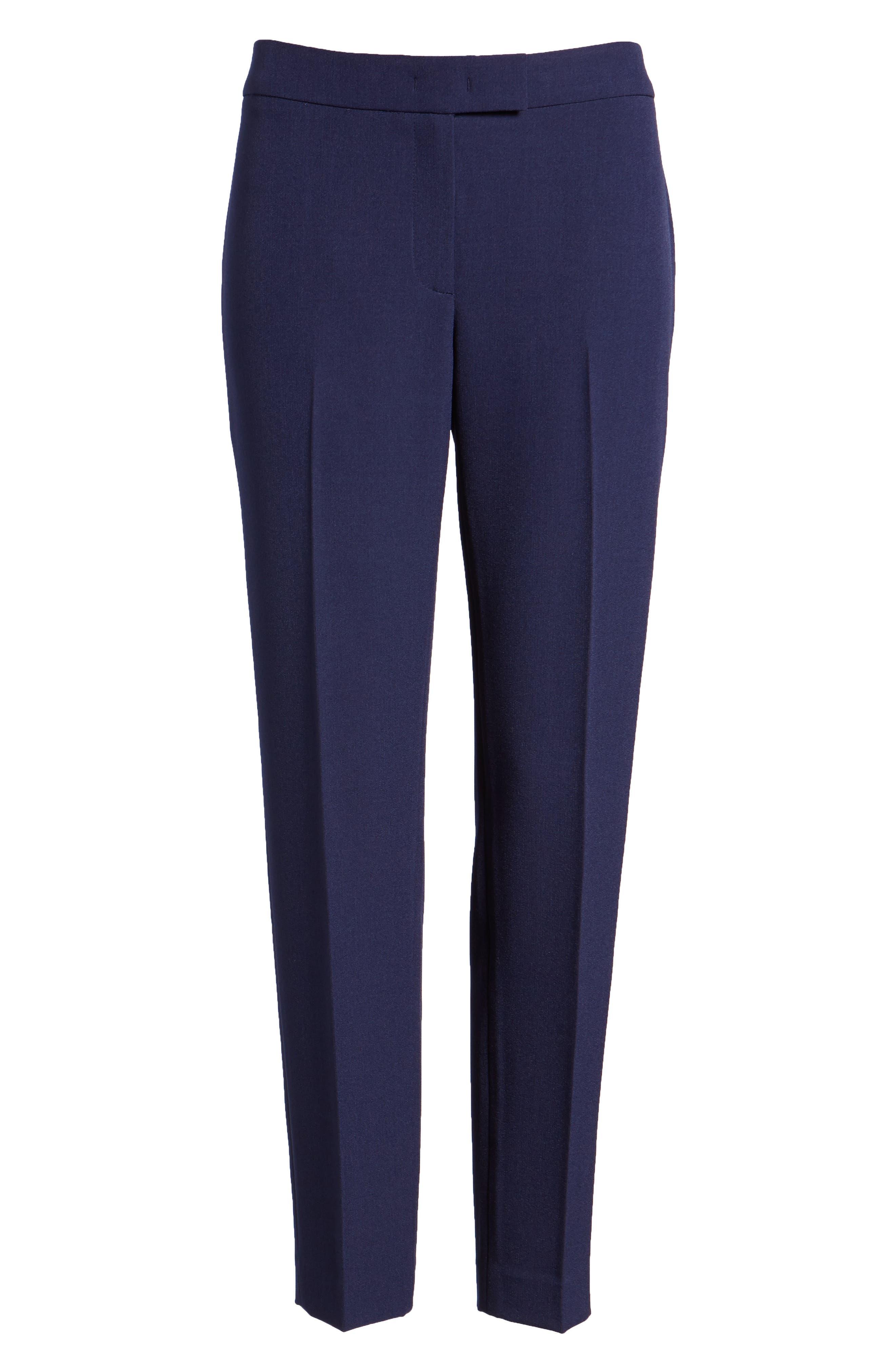 Crepe Slim Pants,                             Alternate thumbnail 7, color,                             Breton Blue