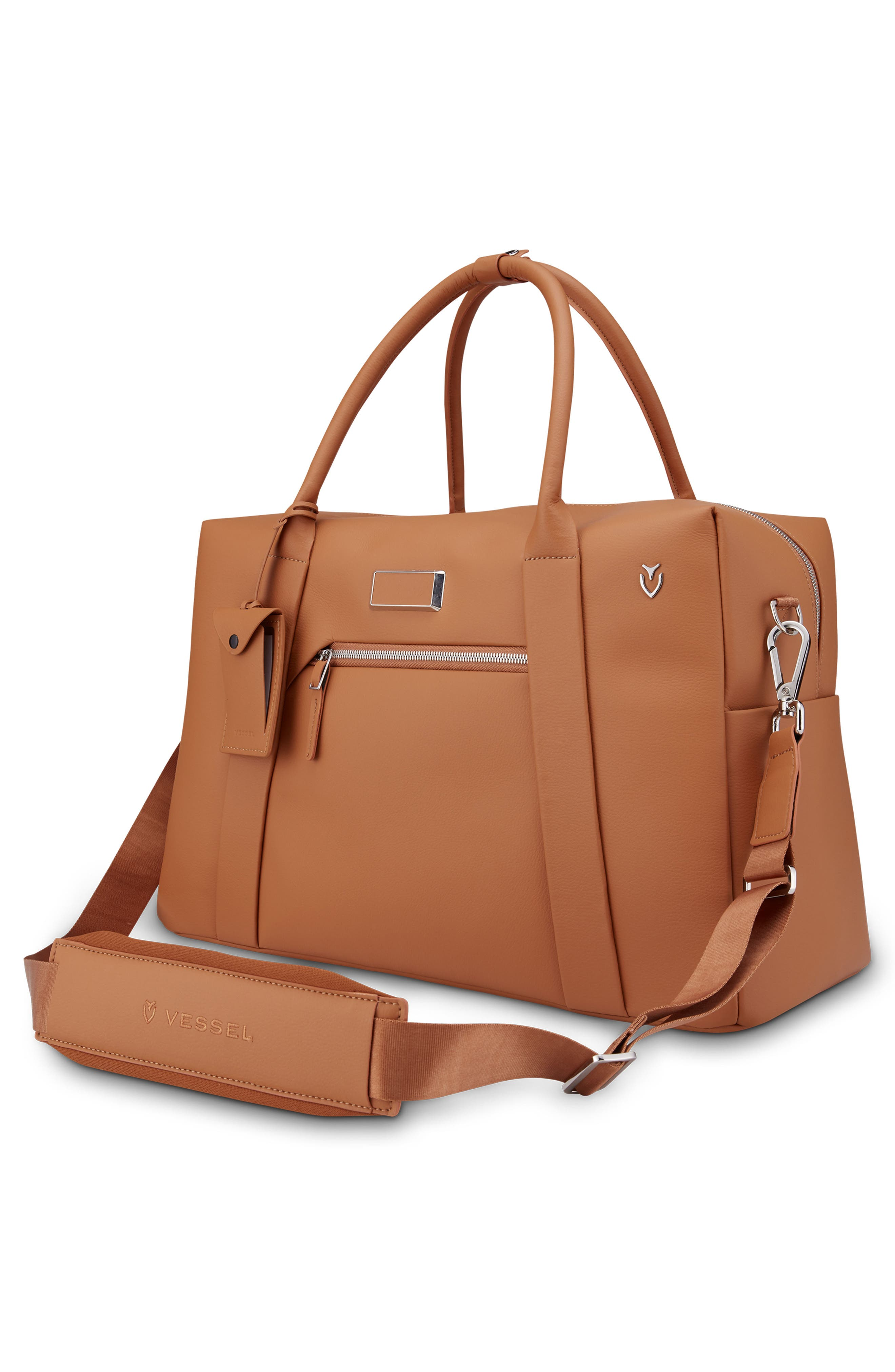 Signature 2.0 Faux Leather Duffel Bag,                             Alternate thumbnail 3, color,                             Pebbled Tan