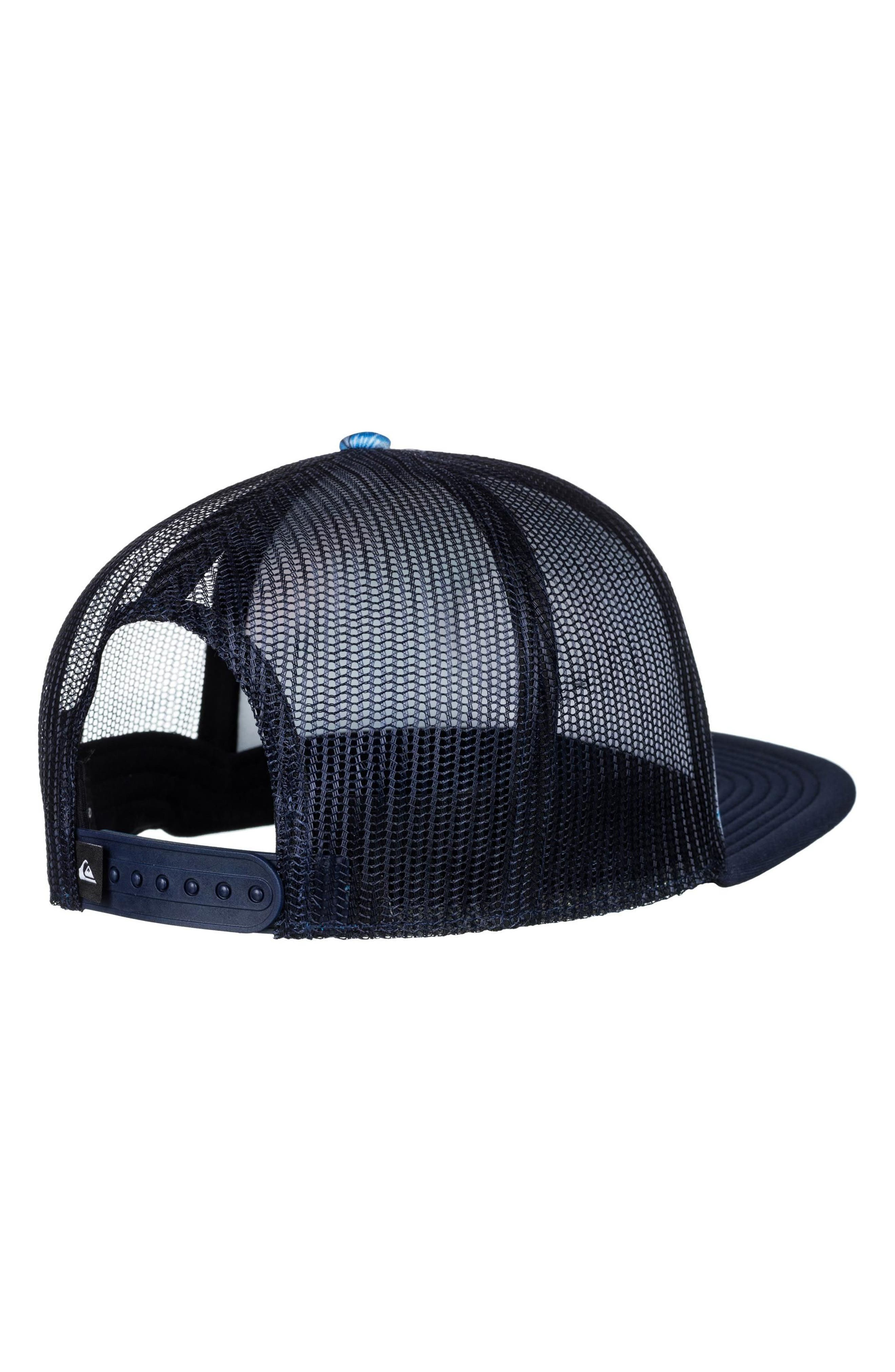 Quicksilver Faded Out Trucker Hat,                             Alternate thumbnail 2, color,                             Navy Blazer