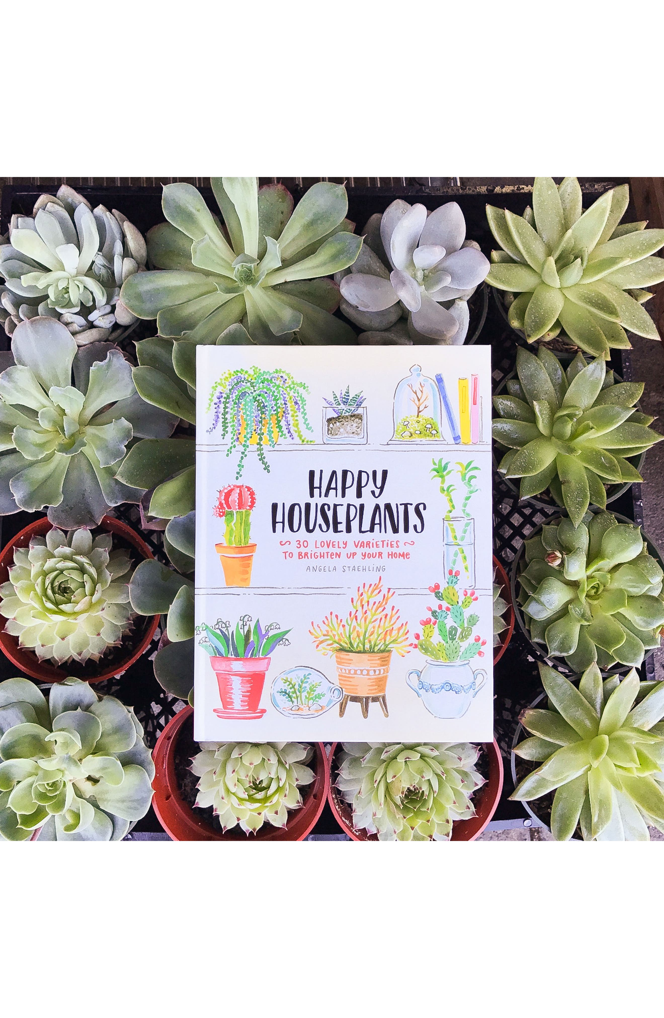 'Happy Houseplants: 30 Lovely Varieties to Brighten Up Your Home' Book,                             Alternate thumbnail 6, color,                             Green