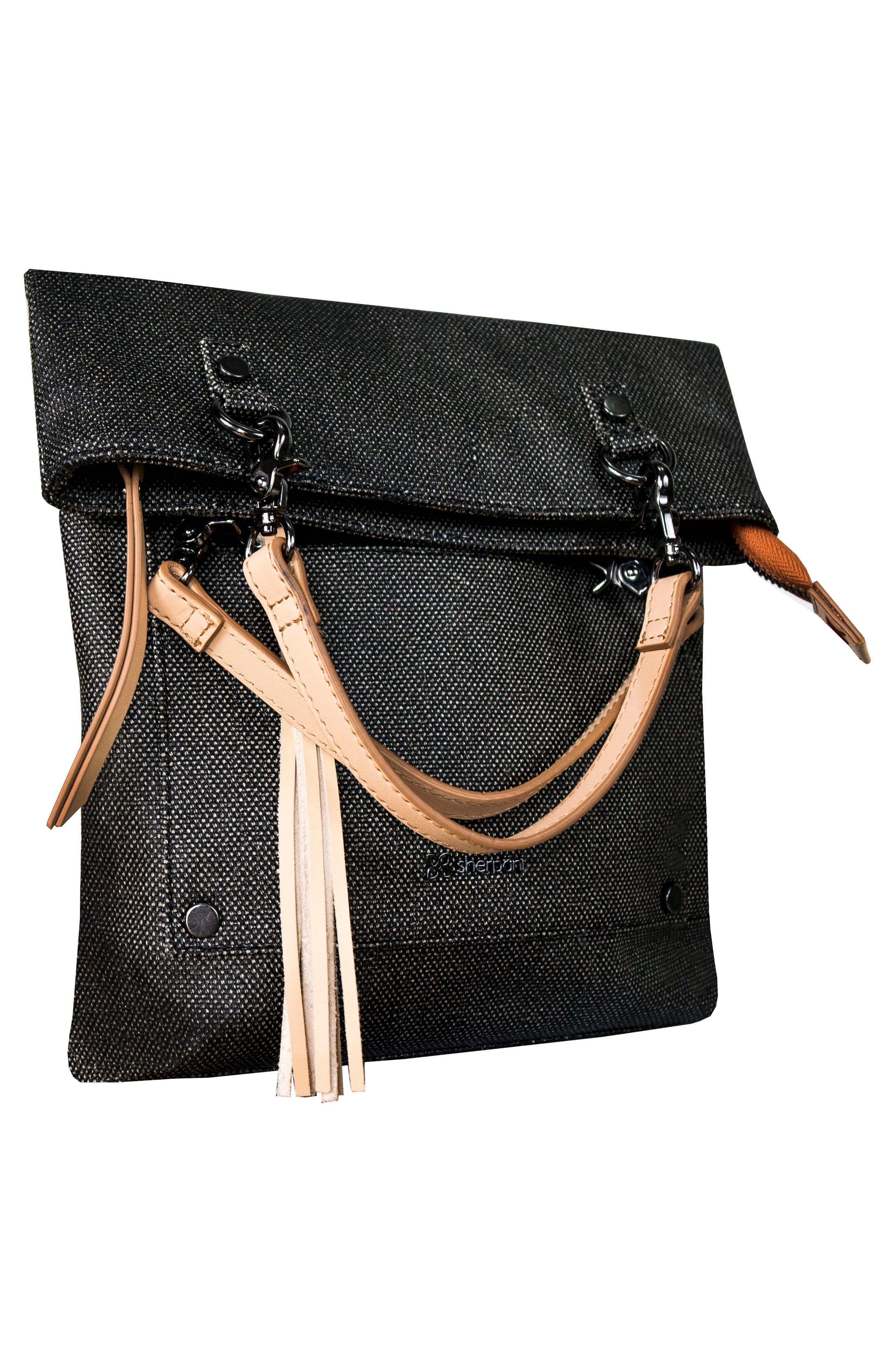 Rebel Coated Canvas Crossbody Bag,                             Alternate thumbnail 4, color,                             Blackstone