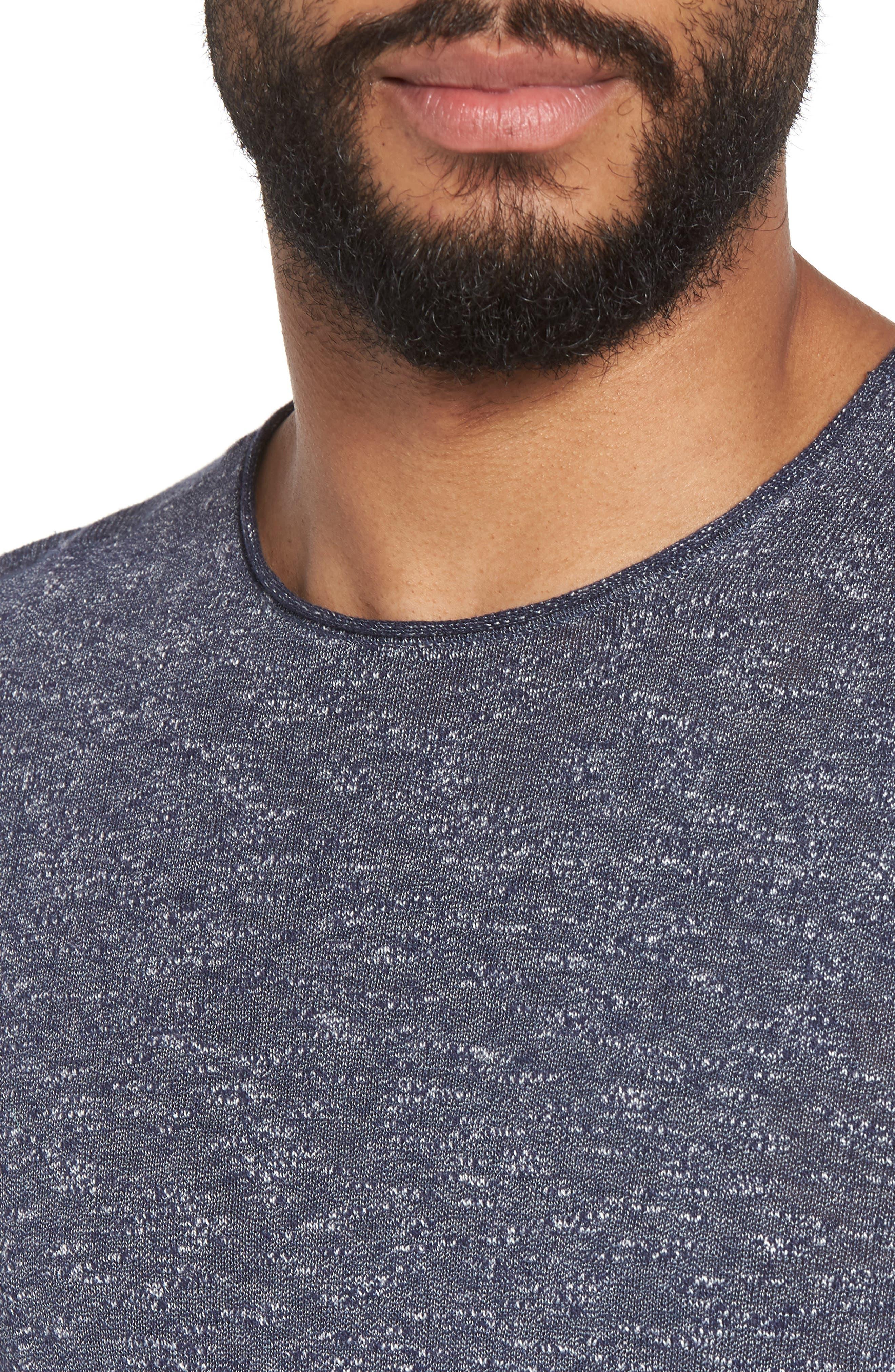 Slim Fit Cotton Blend Sweater,                             Alternate thumbnail 4, color,                             Officer Blue