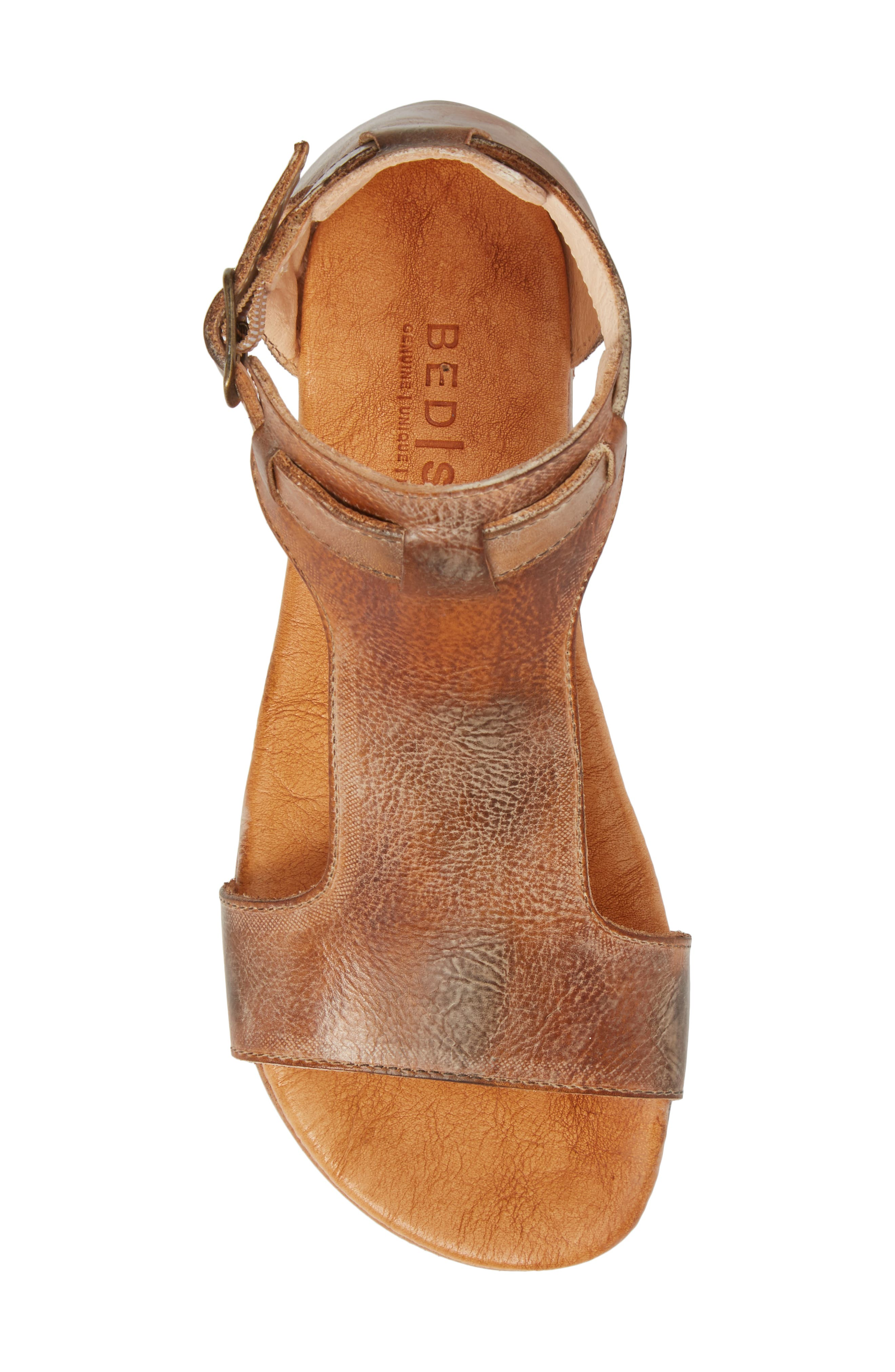 Sable Sandal,                             Alternate thumbnail 5, color,                             Tan/ White Leather