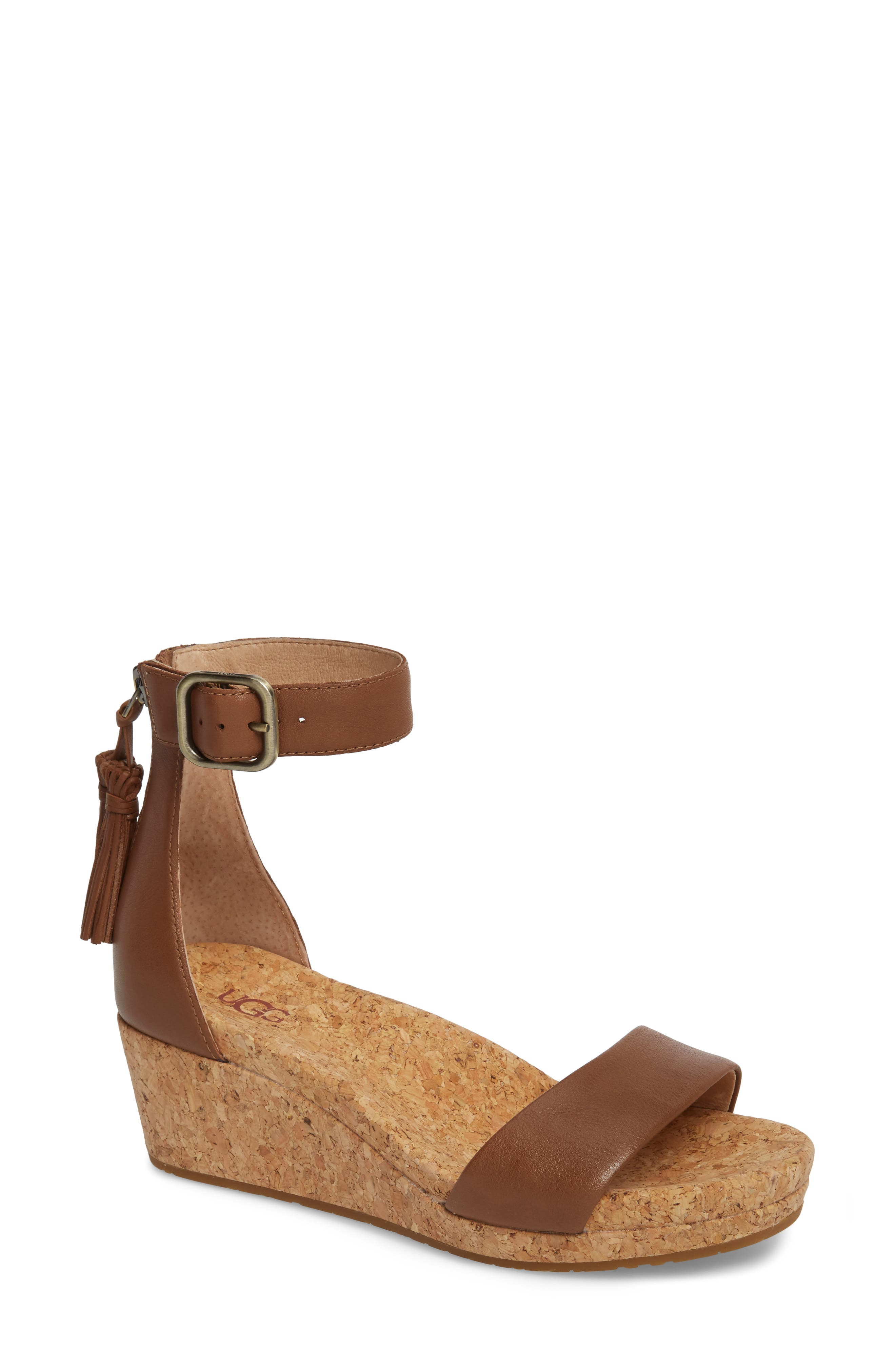 UGG® Zoe Wedge Sandal (Women)