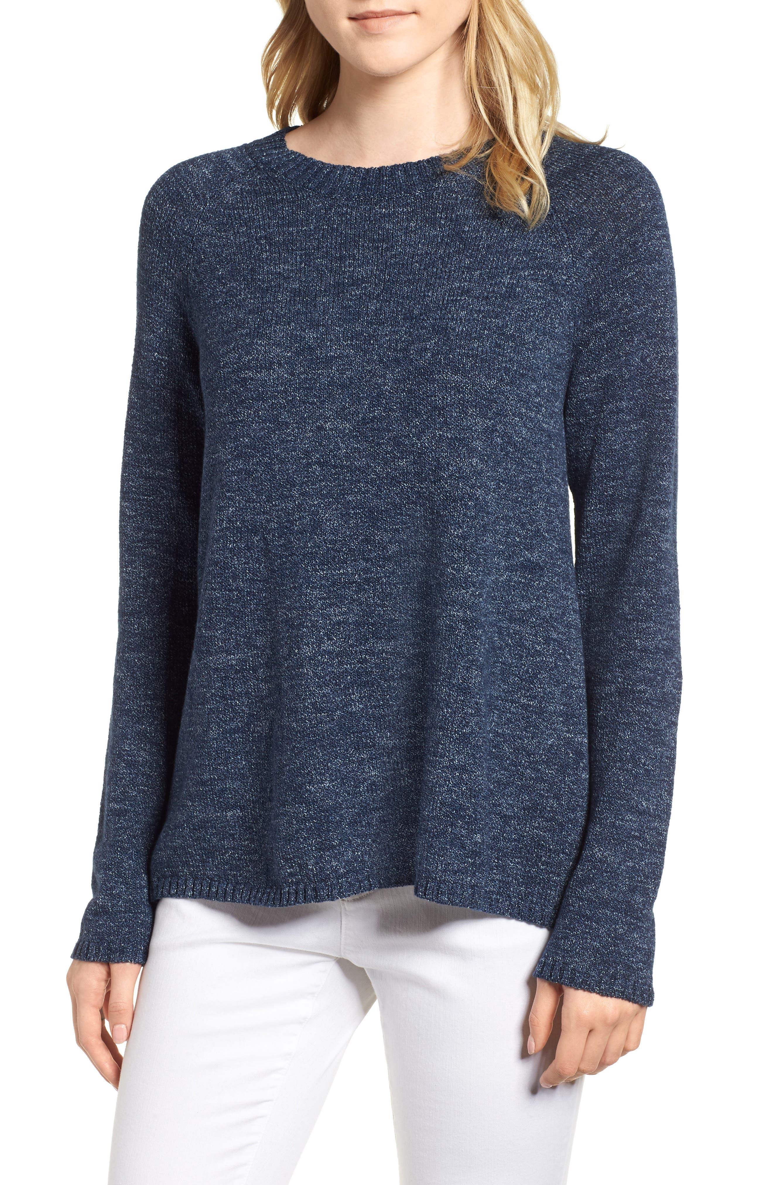 Eileen Fisher Organic Cotton Sweater (Regular & Petite)