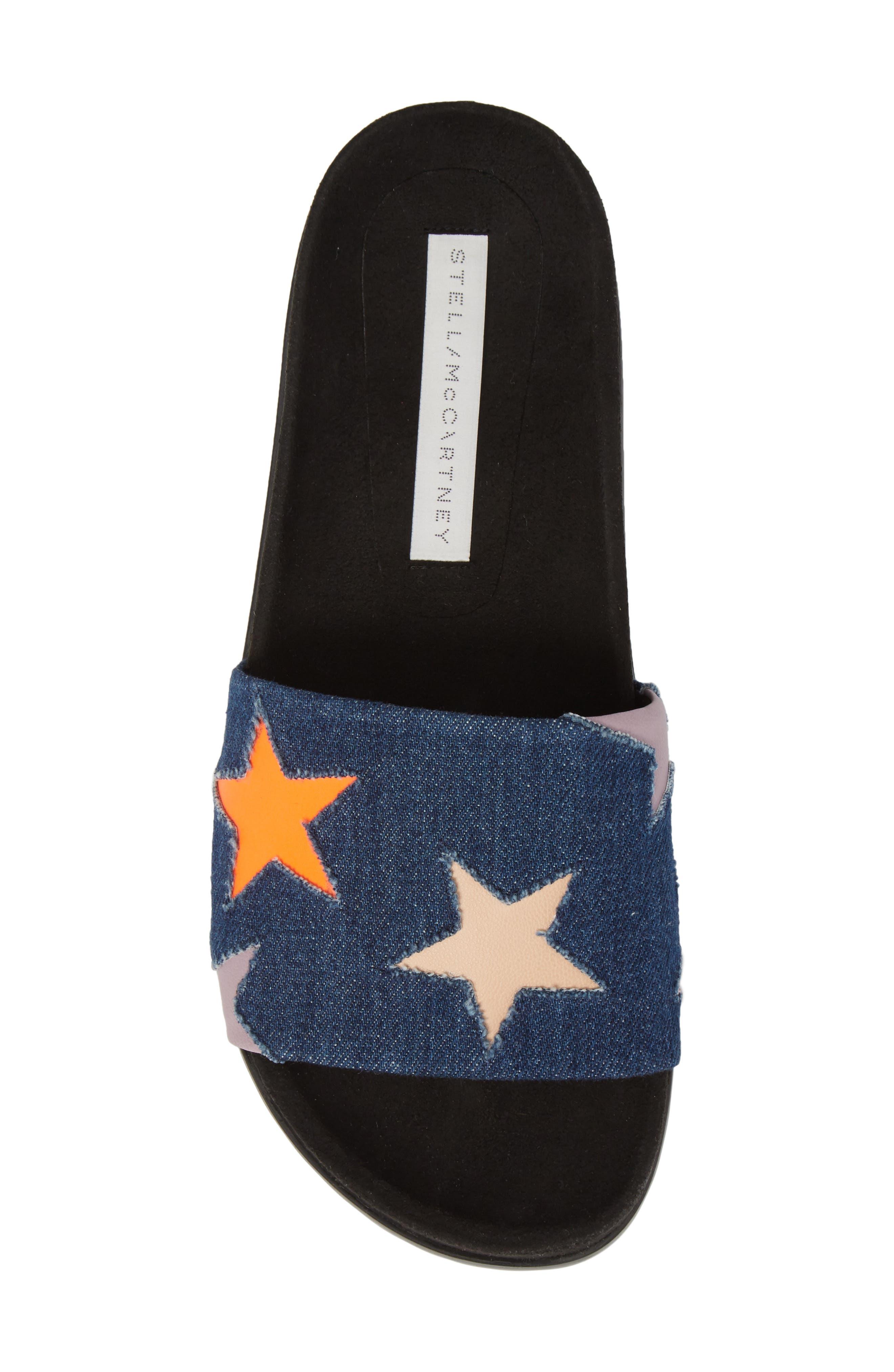 Star Slide Sandal,                             Alternate thumbnail 4, color,                             Navy