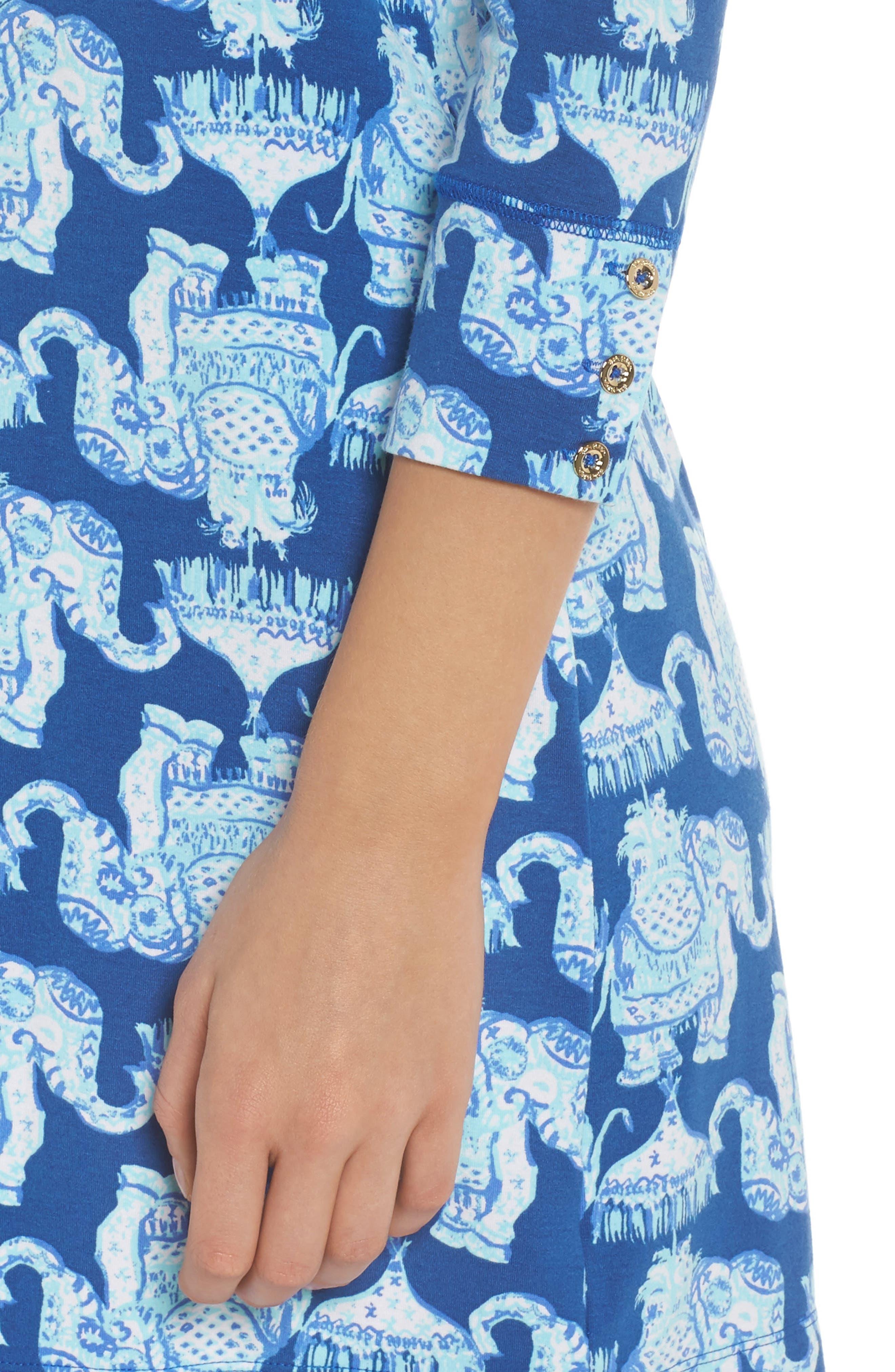 Sophie UPF 50+ Shift Dress,                             Alternate thumbnail 4, color,                             Deep Indigo Joy Ride