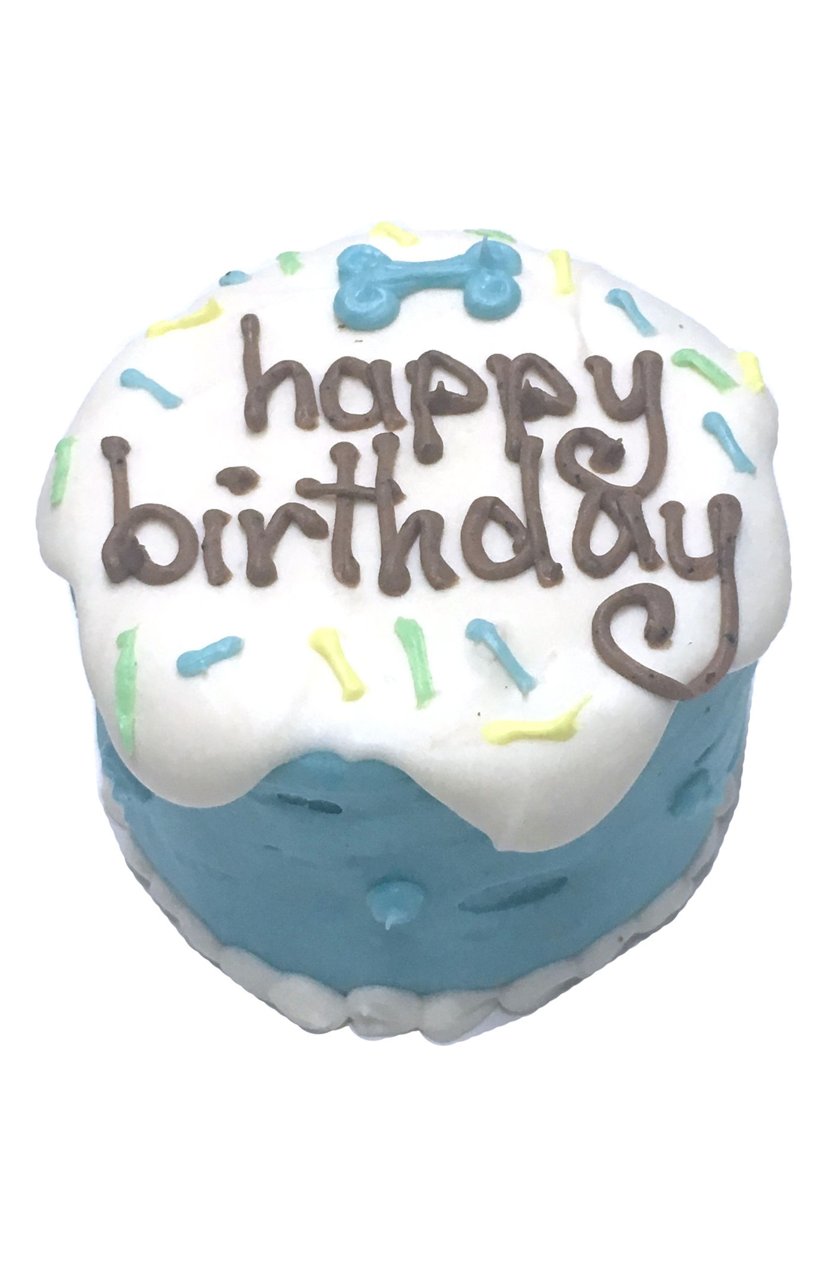 Bubba Rose Biscuit Company Blue Birthday Baby Cake Dog Treat,                             Main thumbnail 1, color,                             Blue