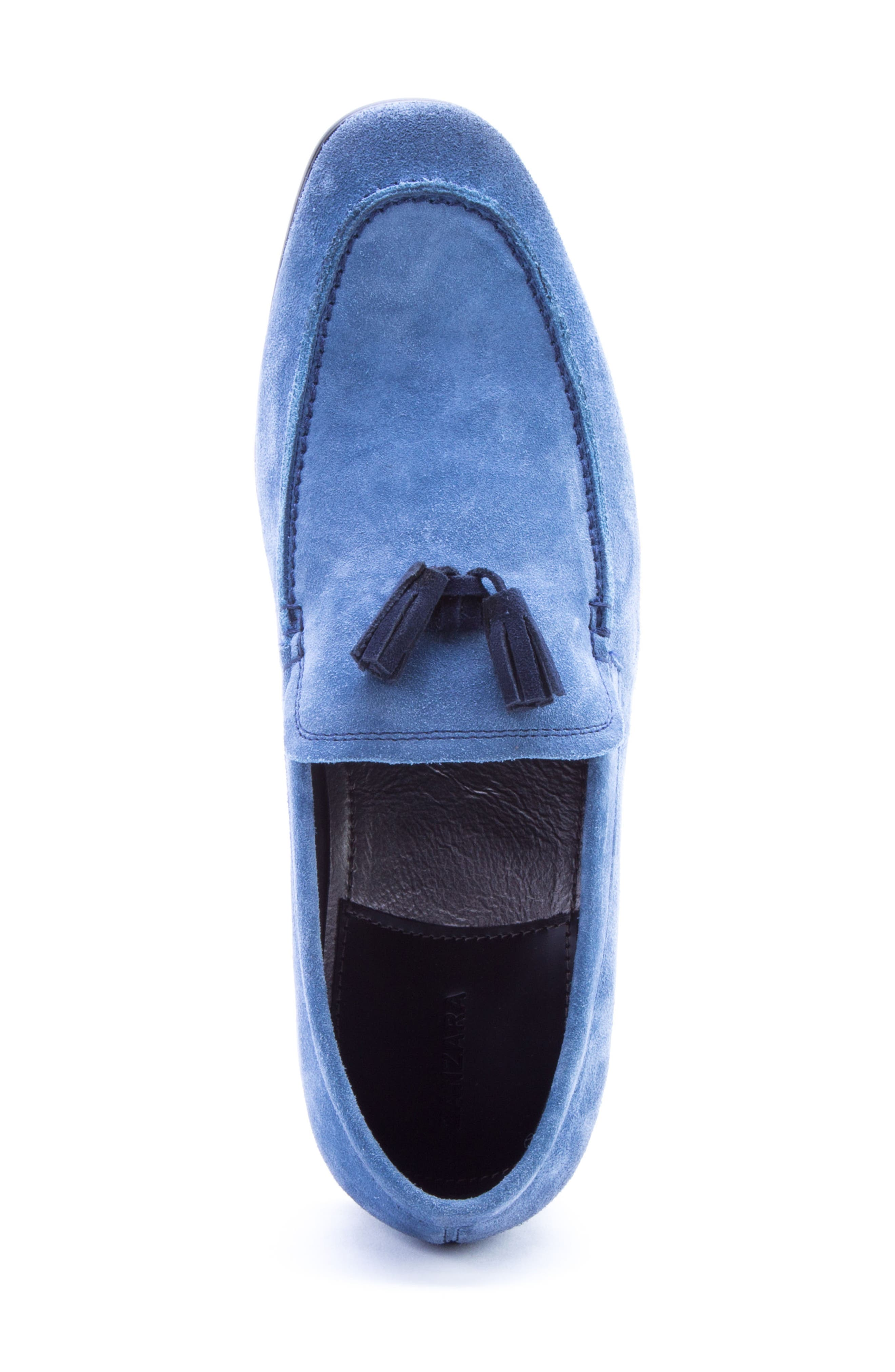 Severn Tassel Venetian Loafer,                             Alternate thumbnail 5, color,                             Blue Suede