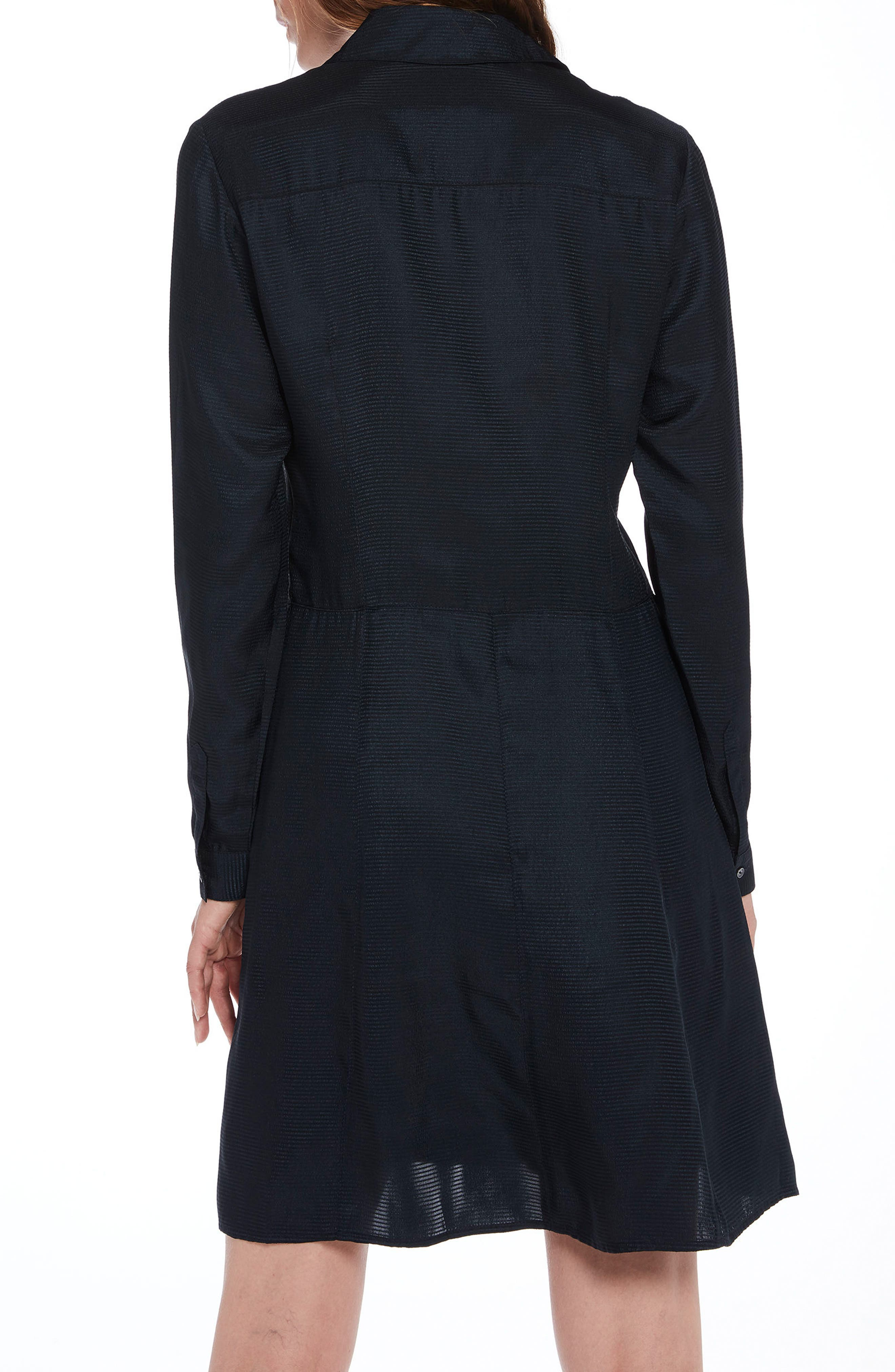 Long Sleeve Shirtdress,                             Alternate thumbnail 2, color,                             Color 02 Night