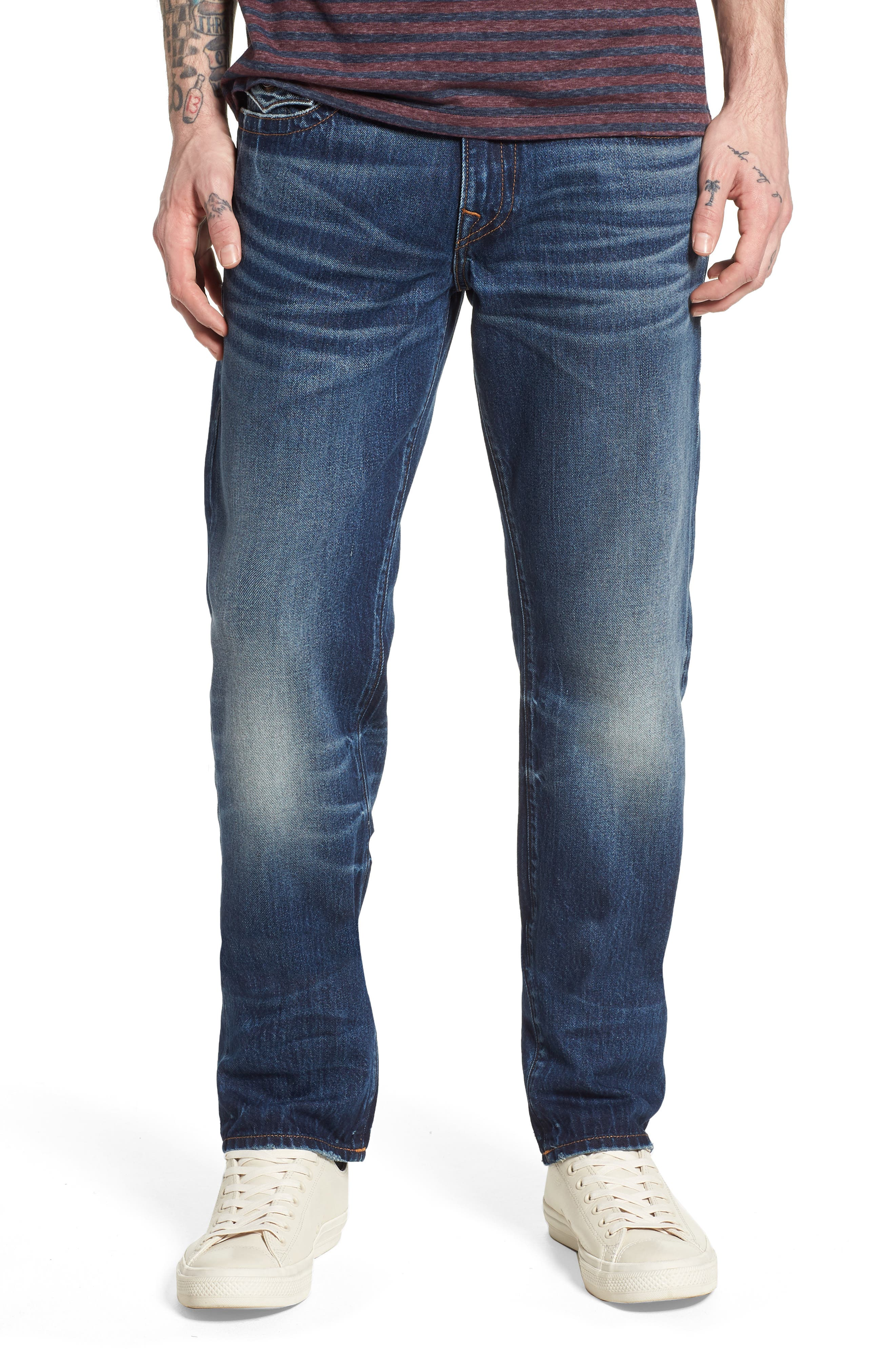 Alternate Image 1 Selected - True Religion Brand Jeans Geno Straight Leg Jeans (Dark After Hours)