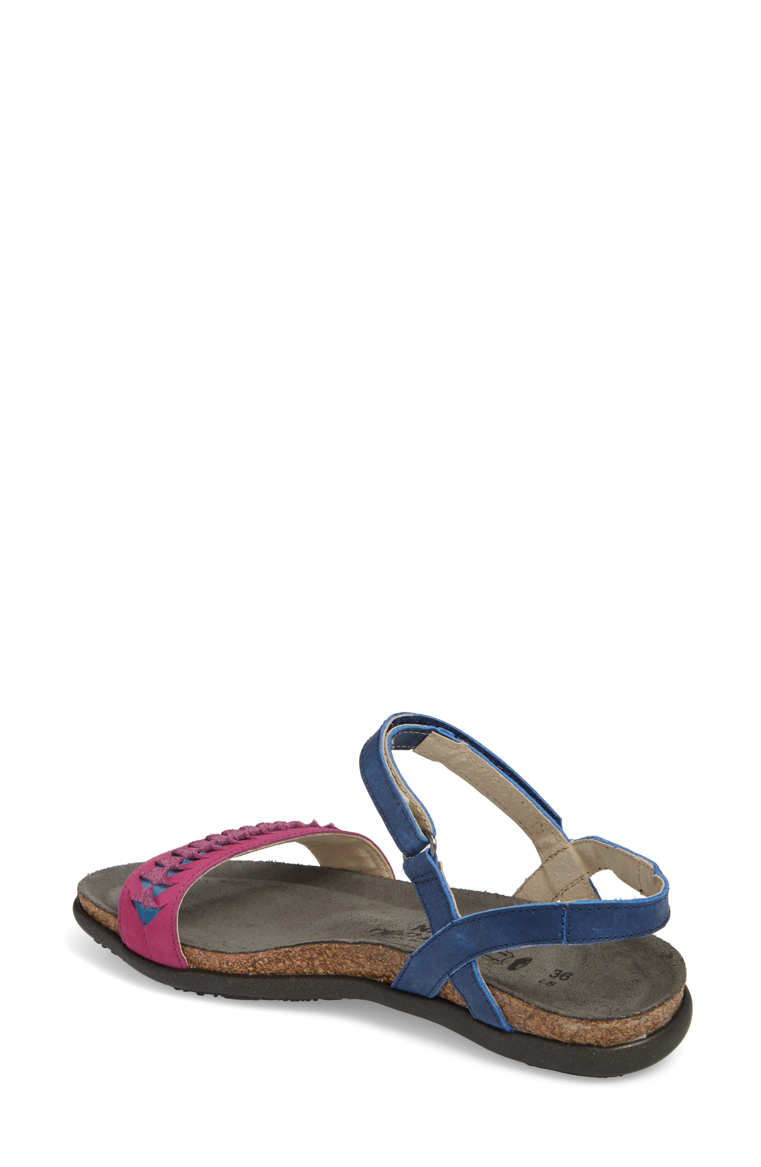 Marble Sandal,                             Alternate thumbnail 2, color,                             Oily Blue Nubuck
