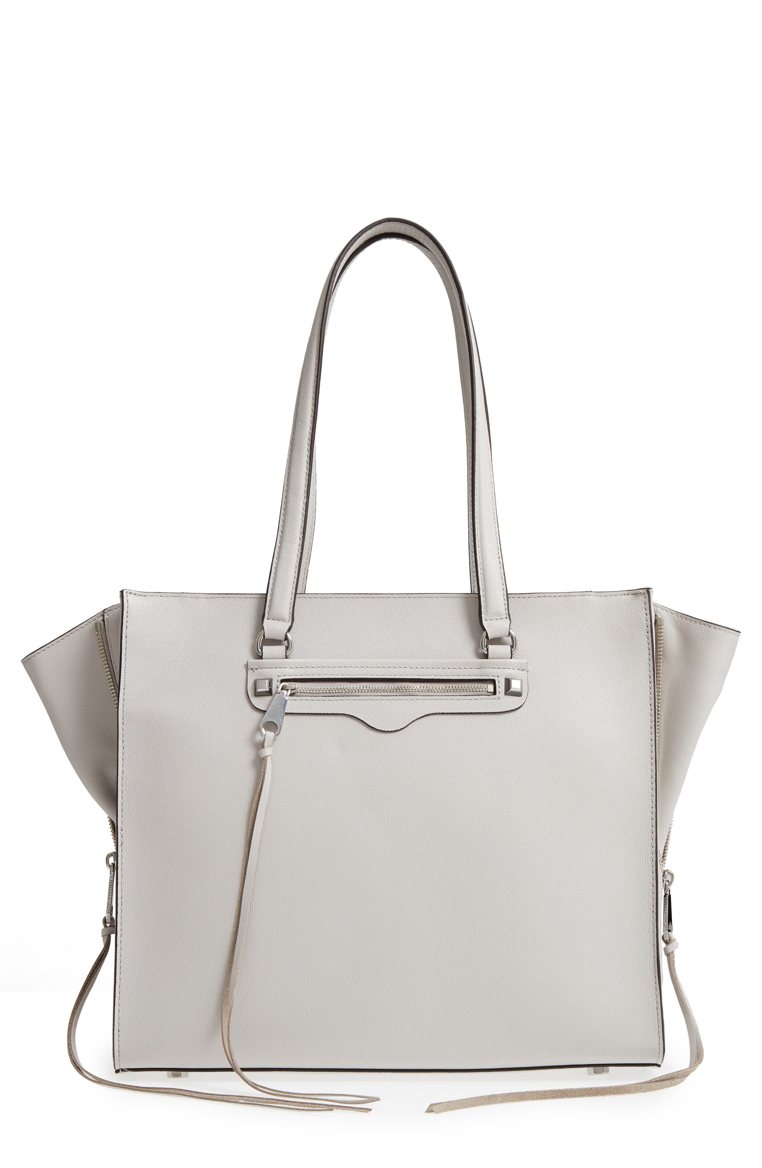 Always On Regan Leather Tote,                             Main thumbnail 1, color,                             Putty
