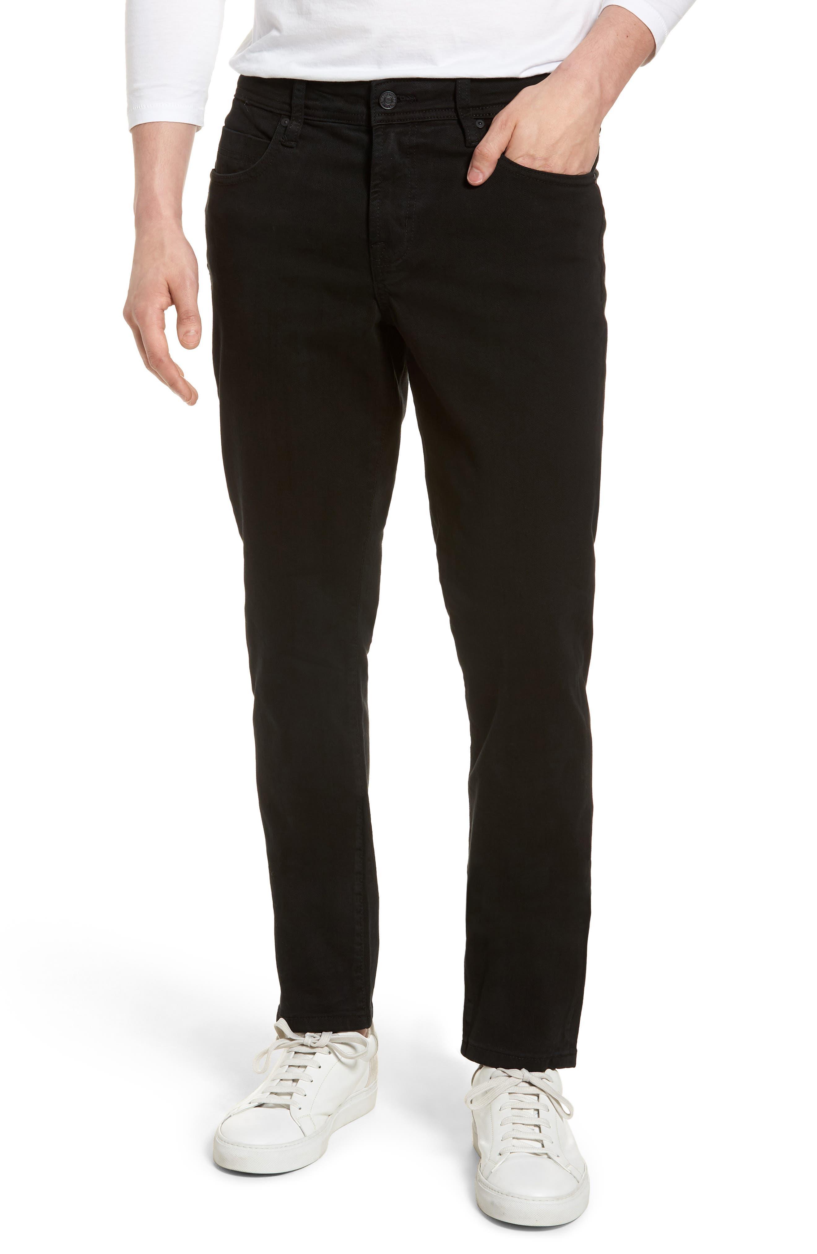 Jeans Co. Kingston Slim Straight Leg Jeans,                             Main thumbnail 1, color,                             Black Rinse