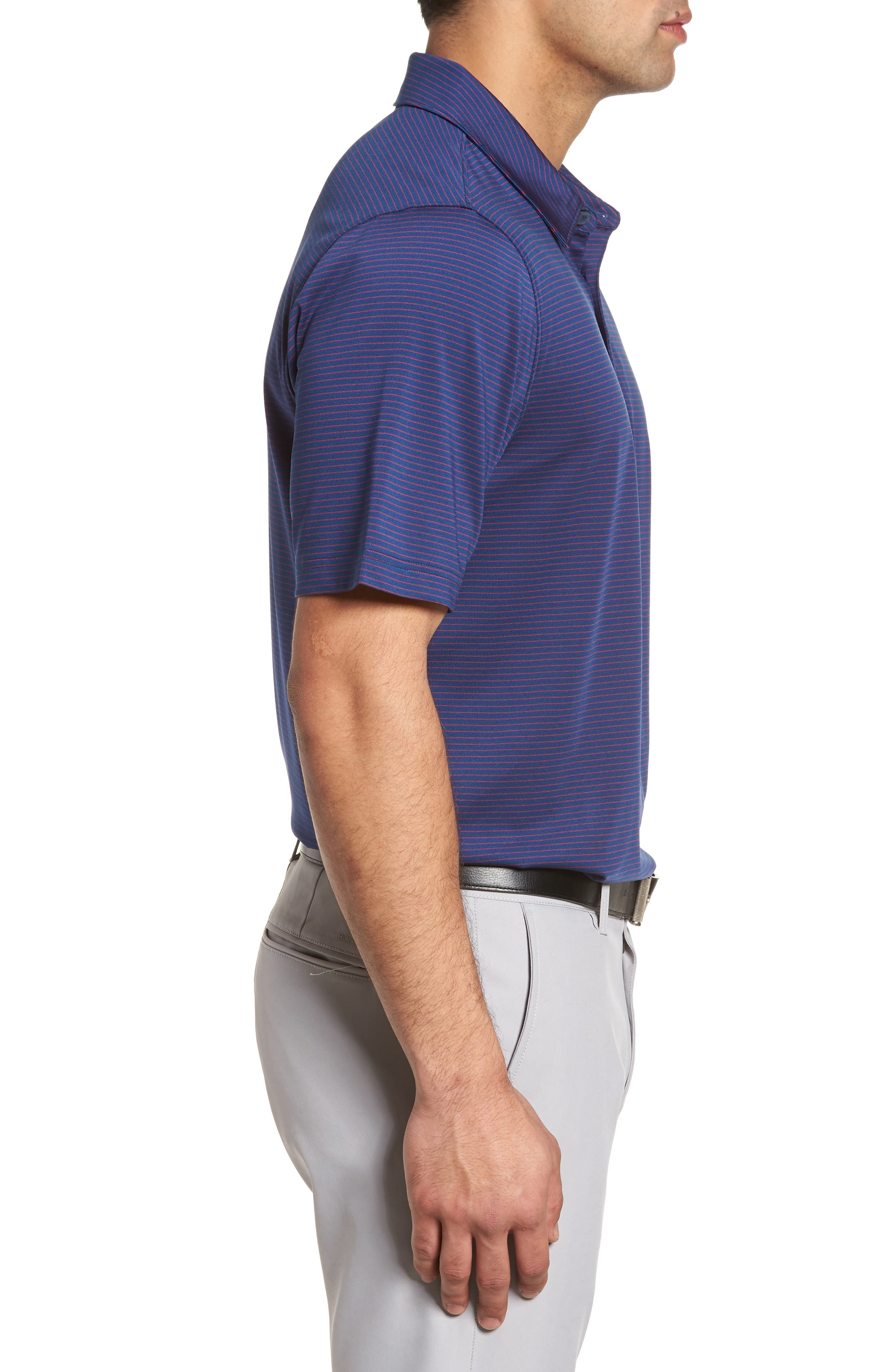 Heather DryTec Moisture Wicking Polo,                             Alternate thumbnail 3, color,                             Clarity