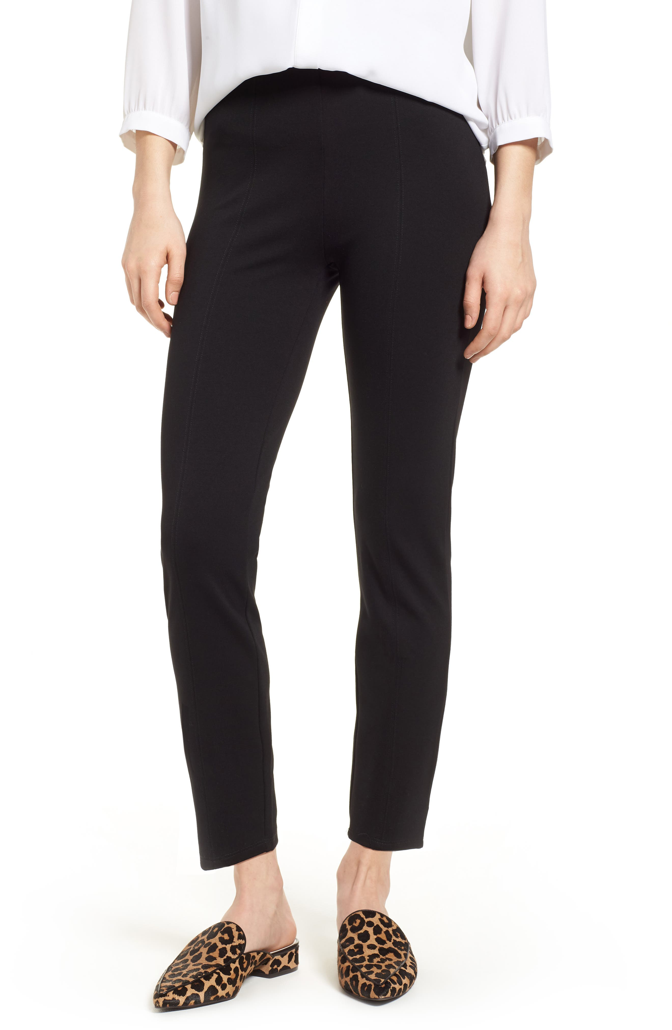 Macklin Ponte Leggings,                             Main thumbnail 1, color,                             Black
