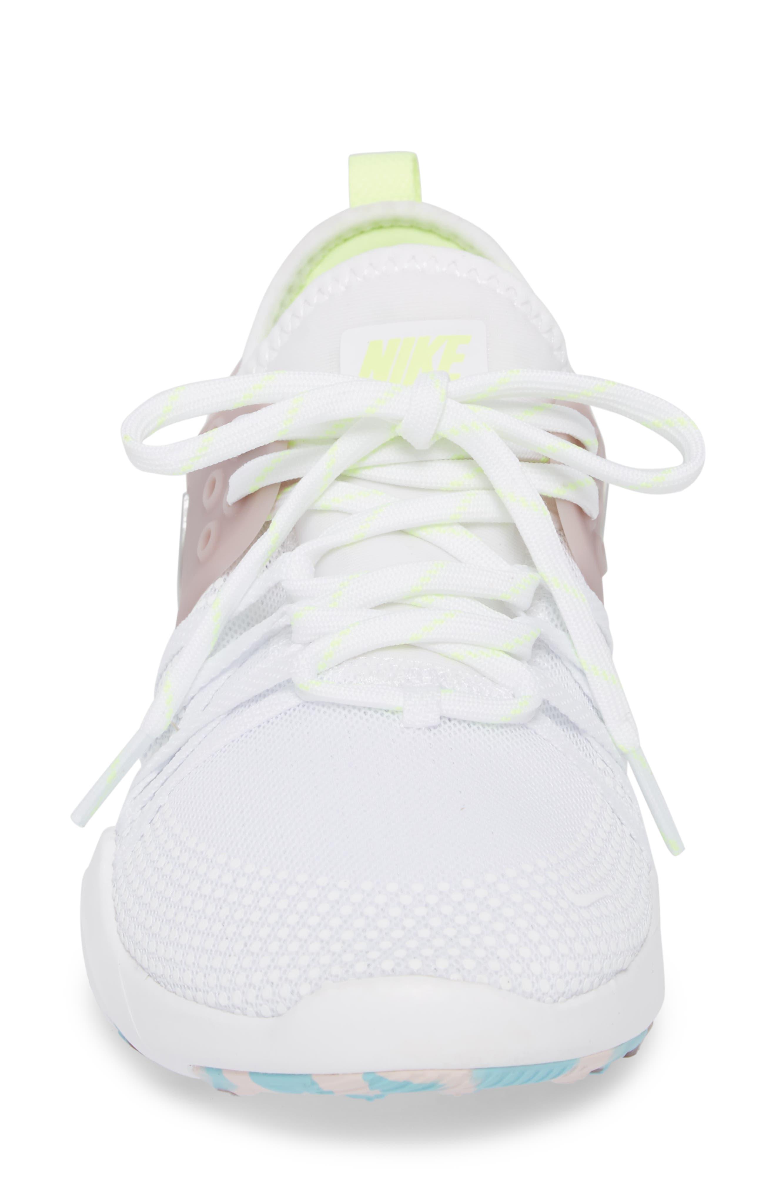 Free TR 7 Training Shoe,                             Alternate thumbnail 4, color,                             White/ Silver