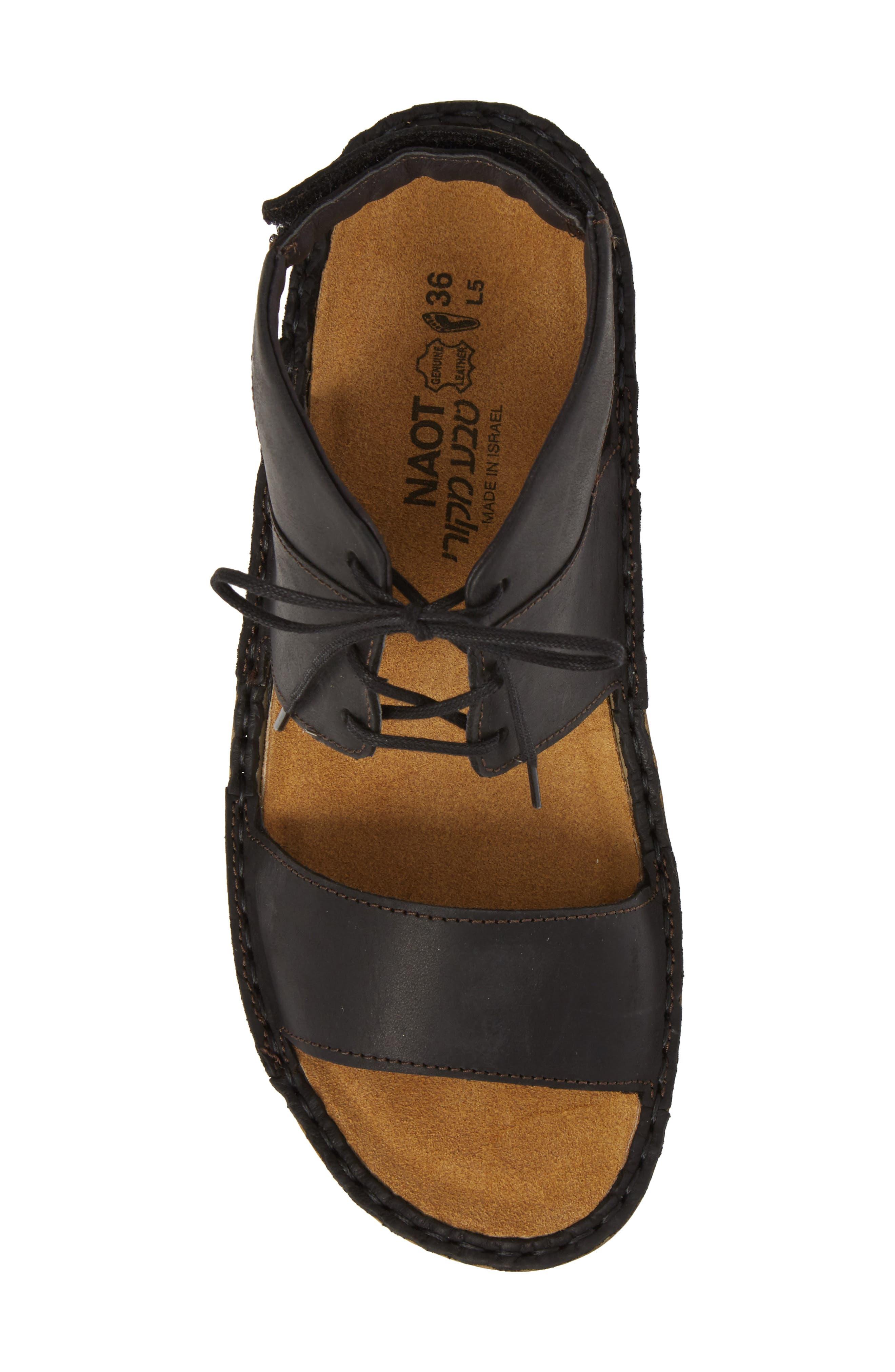Apicola Sandal,                             Alternate thumbnail 5, color,                             Oily Coal Nubuck