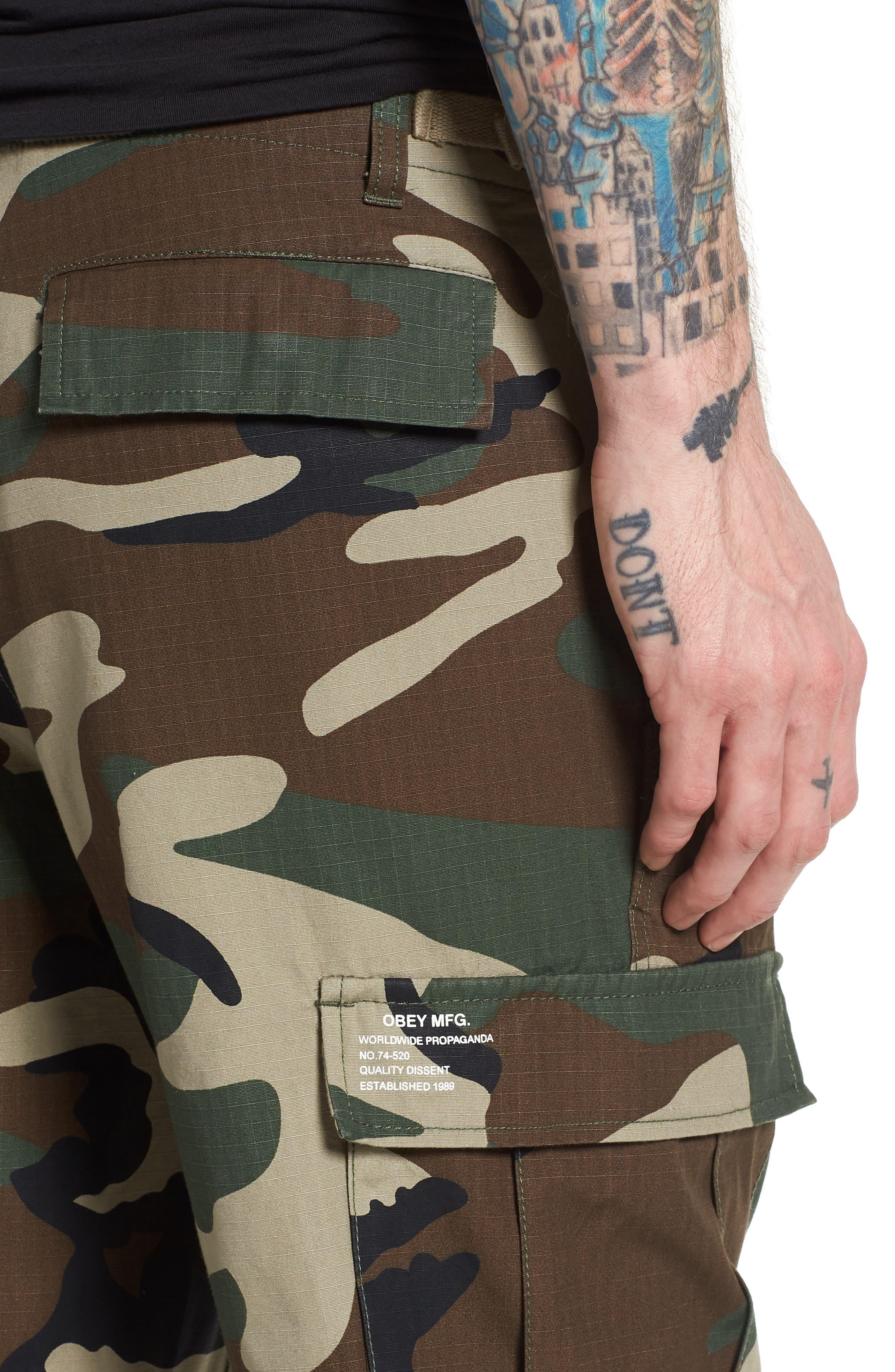 Recon Cargo Pants,                             Alternate thumbnail 4, color,                             Field Camo