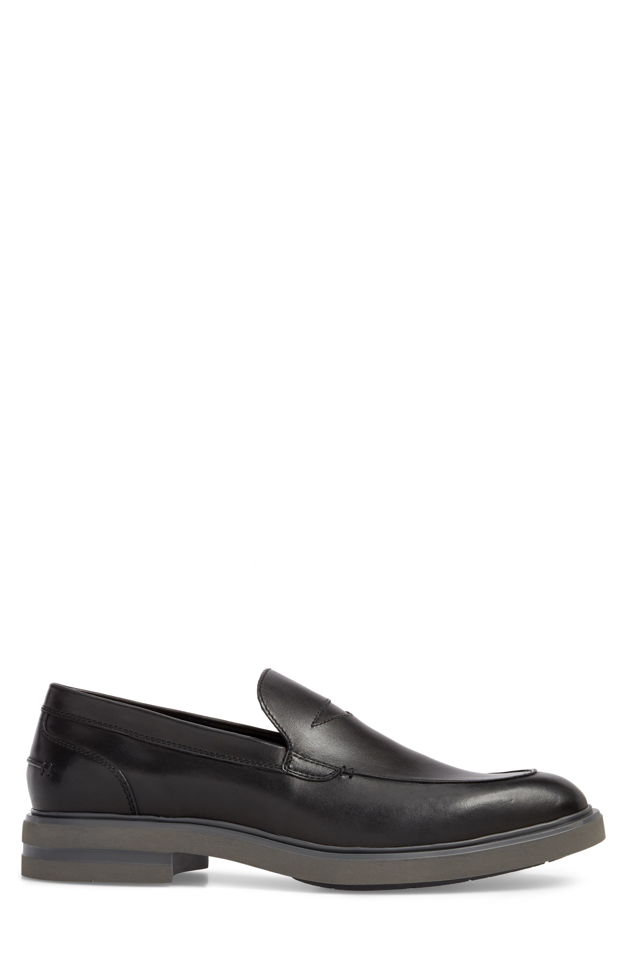 Edwyn Deconstructed Penny Loafer,                             Alternate thumbnail 3, color,                             Black Leather