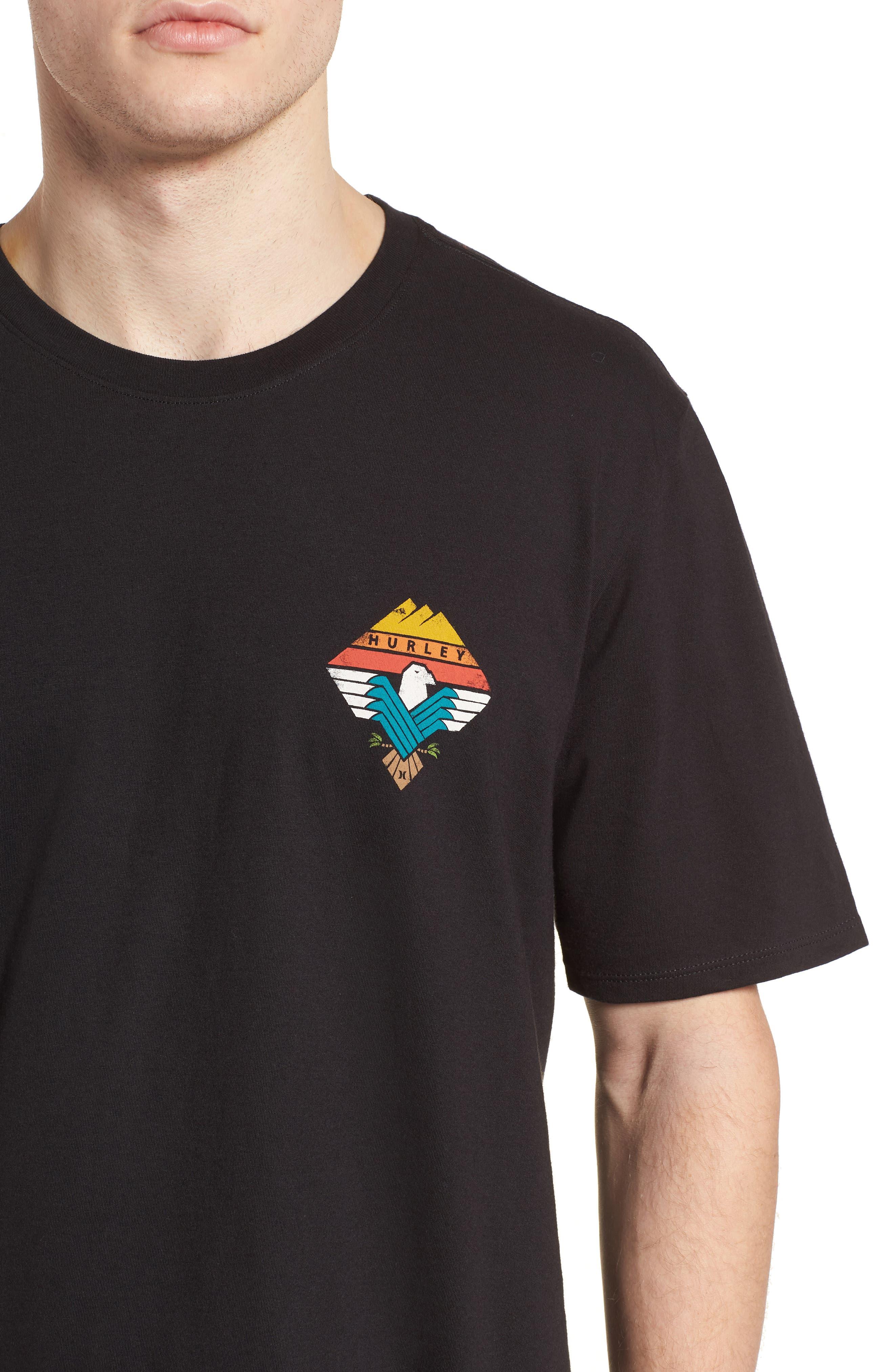 Surfin' Bird T-Shirt,                             Alternate thumbnail 4, color,                             Black