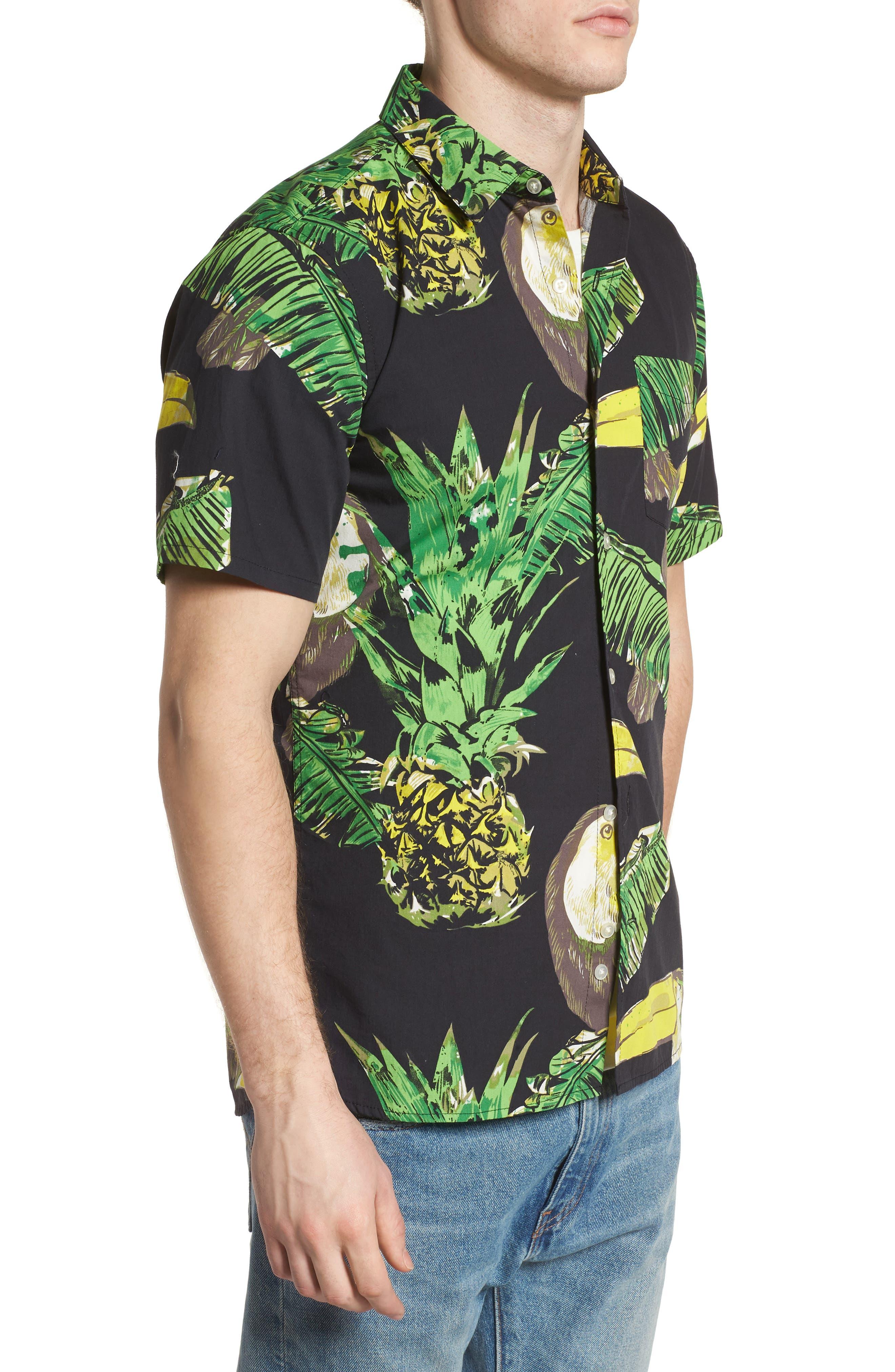 Toucan Shirt,                             Alternate thumbnail 4, color,                             Black