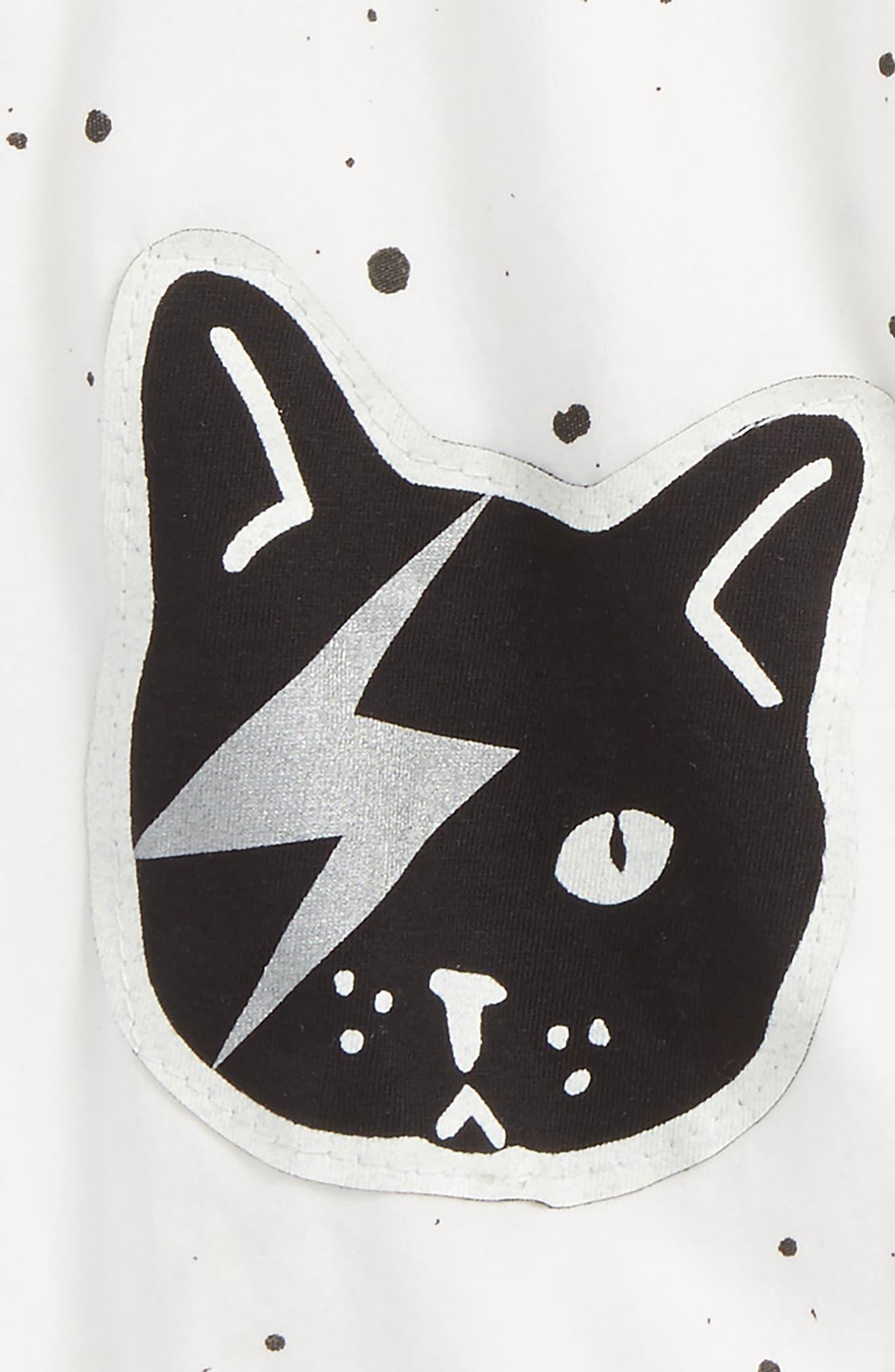 Space Cat Jogger Pants,                             Alternate thumbnail 2, color,                             White Space