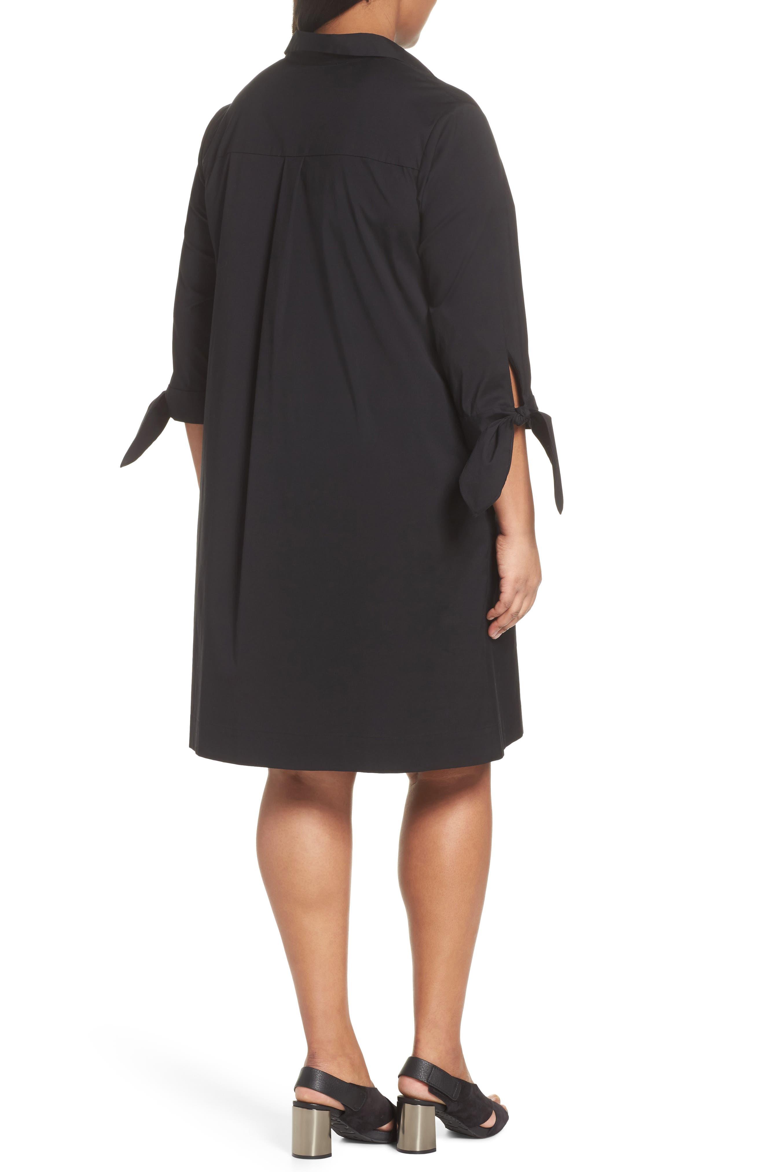Lafayette 148 Talia Shirtdress,                             Alternate thumbnail 2, color,                             Black