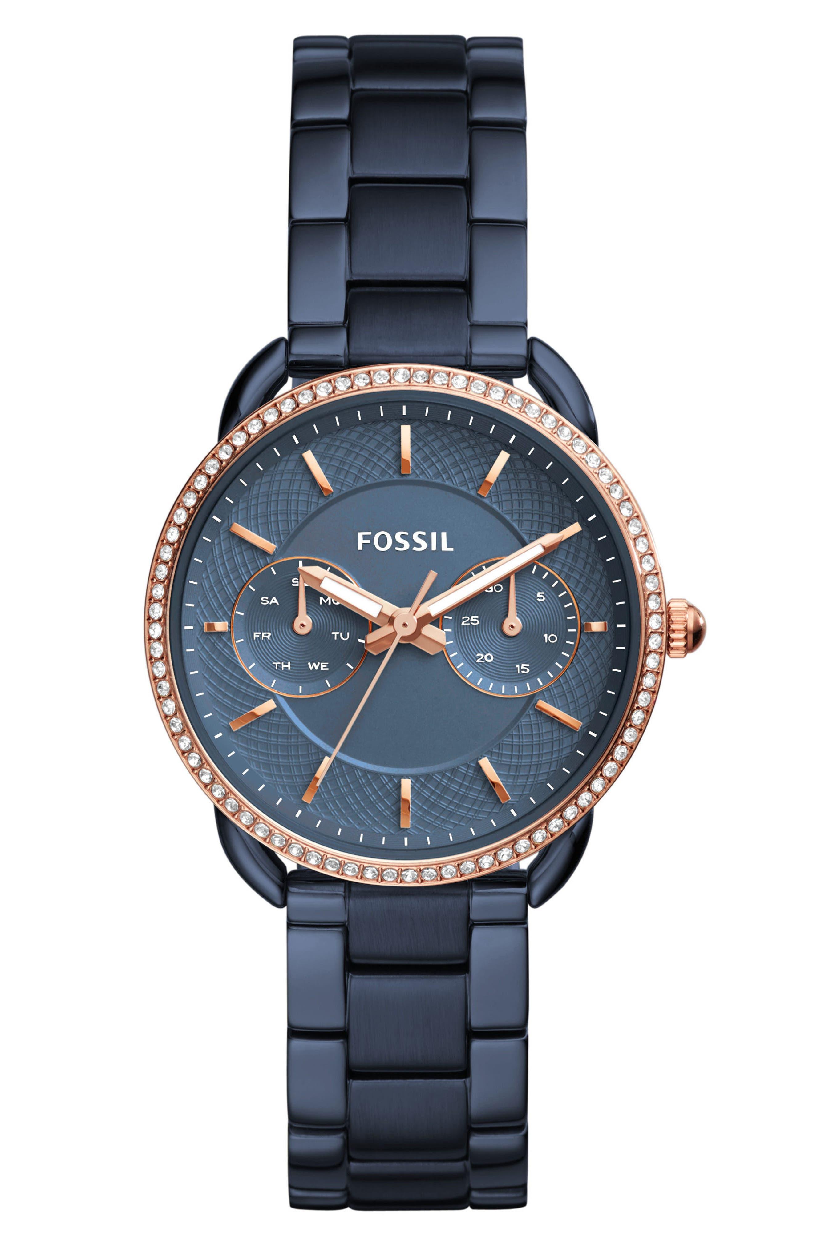 Tailor Crystal Multifunction Bracelet Watch, 35mm,                         Main,                         color, Blue