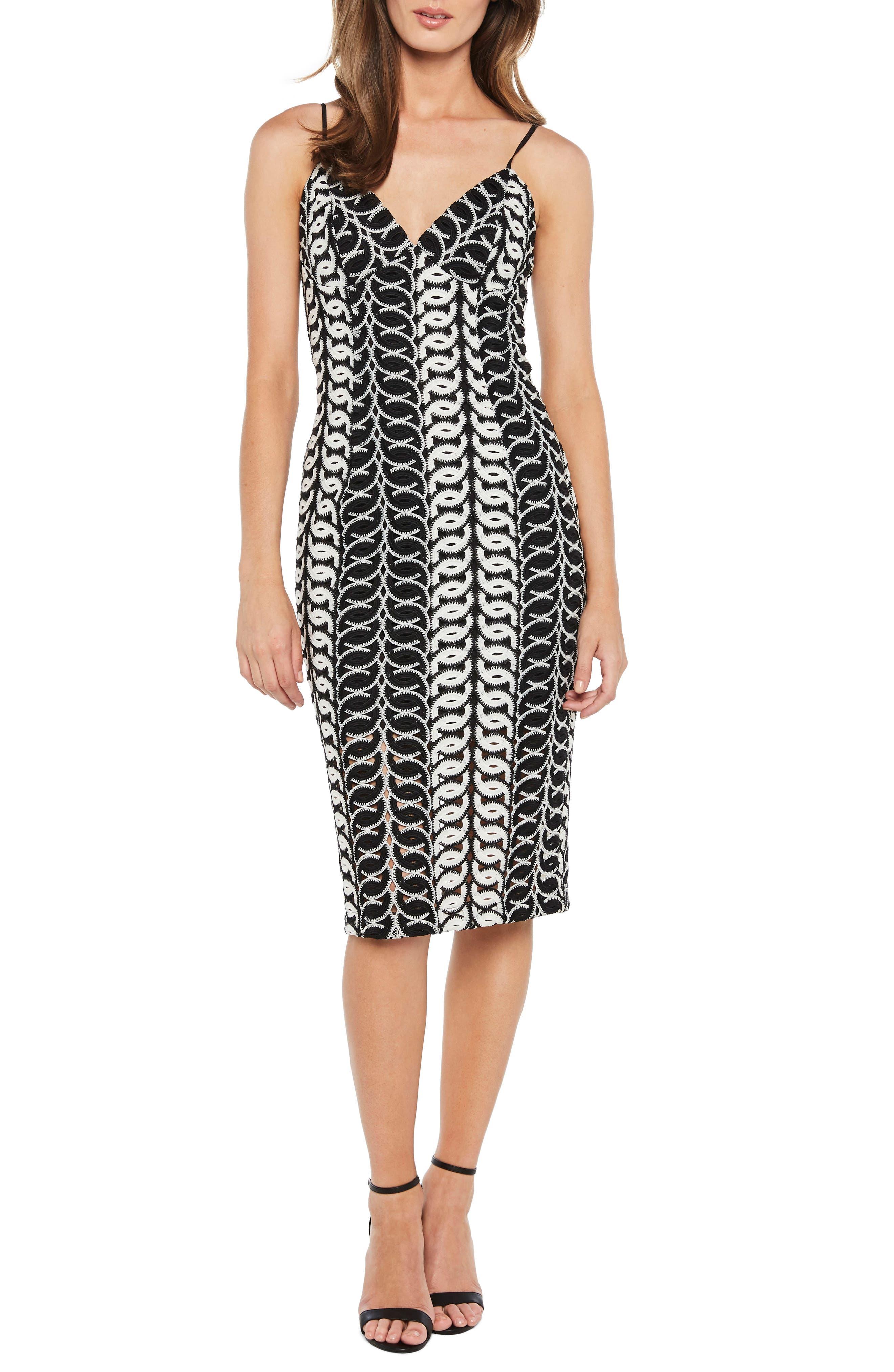 Germaine Lace Dress,                         Main,                         color, Multi-Blk