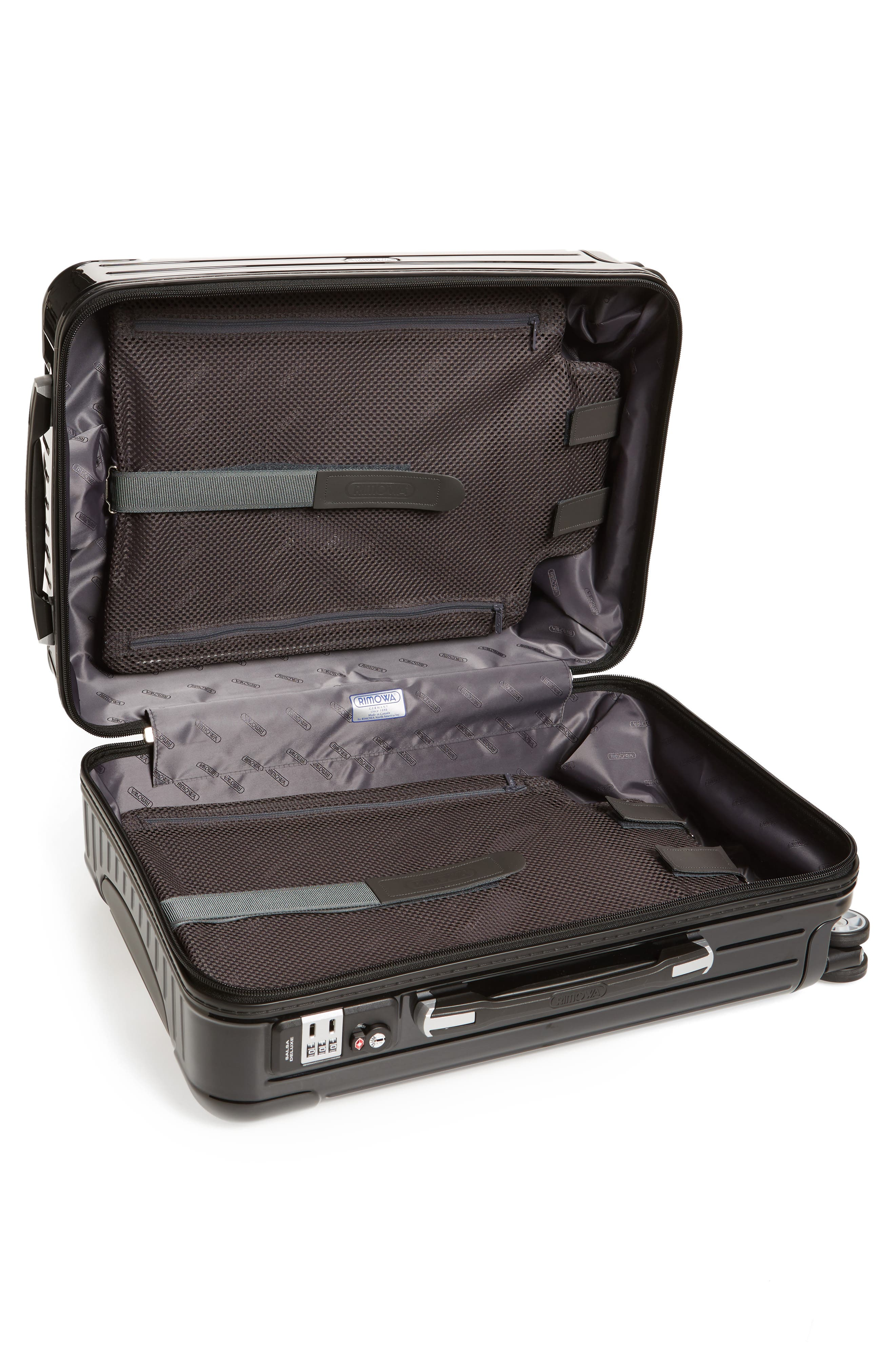 Salsa Deluxe Cabin Multiwheel<sup>®</sup> Carry-On,                             Alternate thumbnail 3, color,                             Black