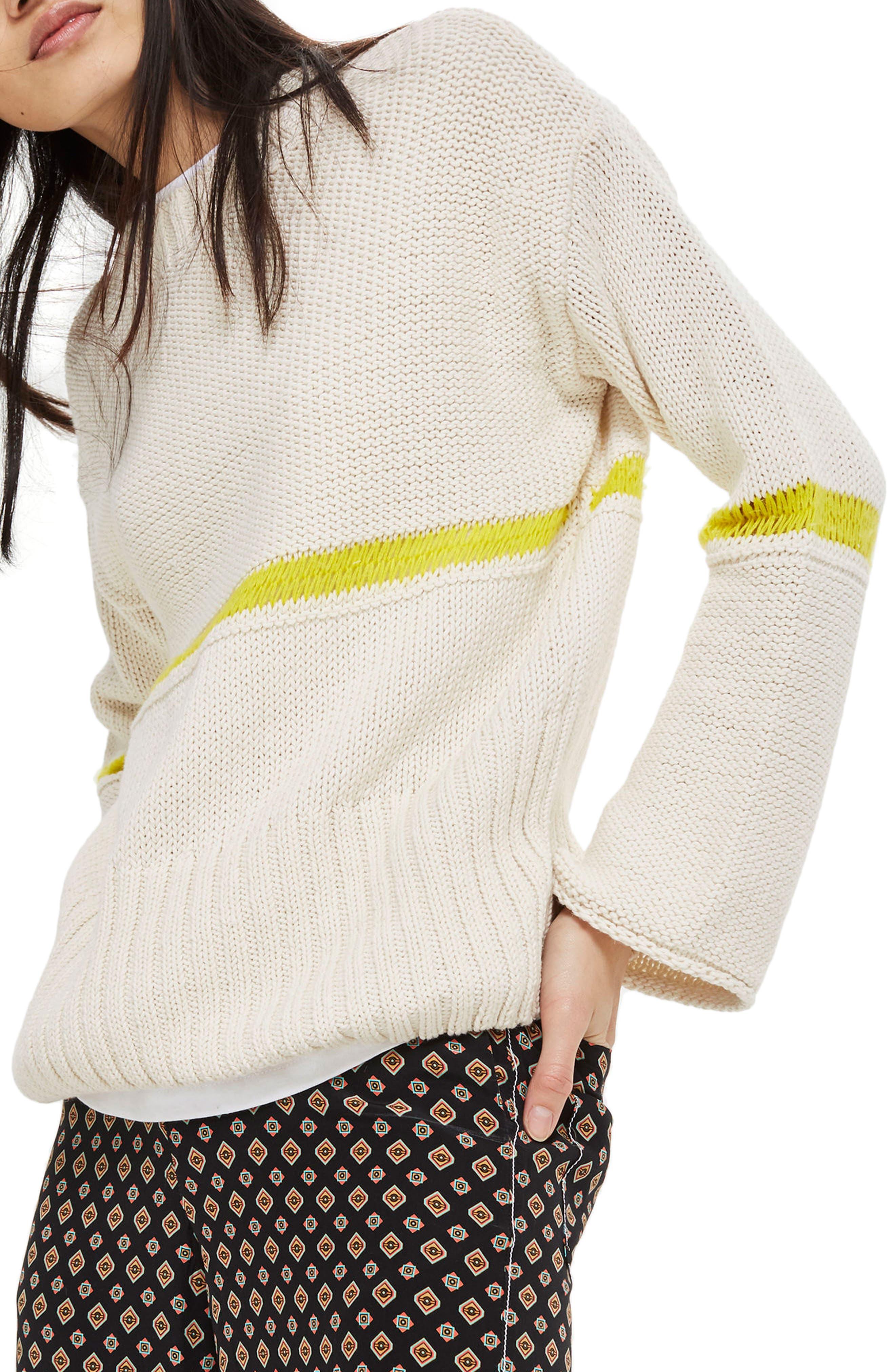 Topshop Stripe Yarn Sweater