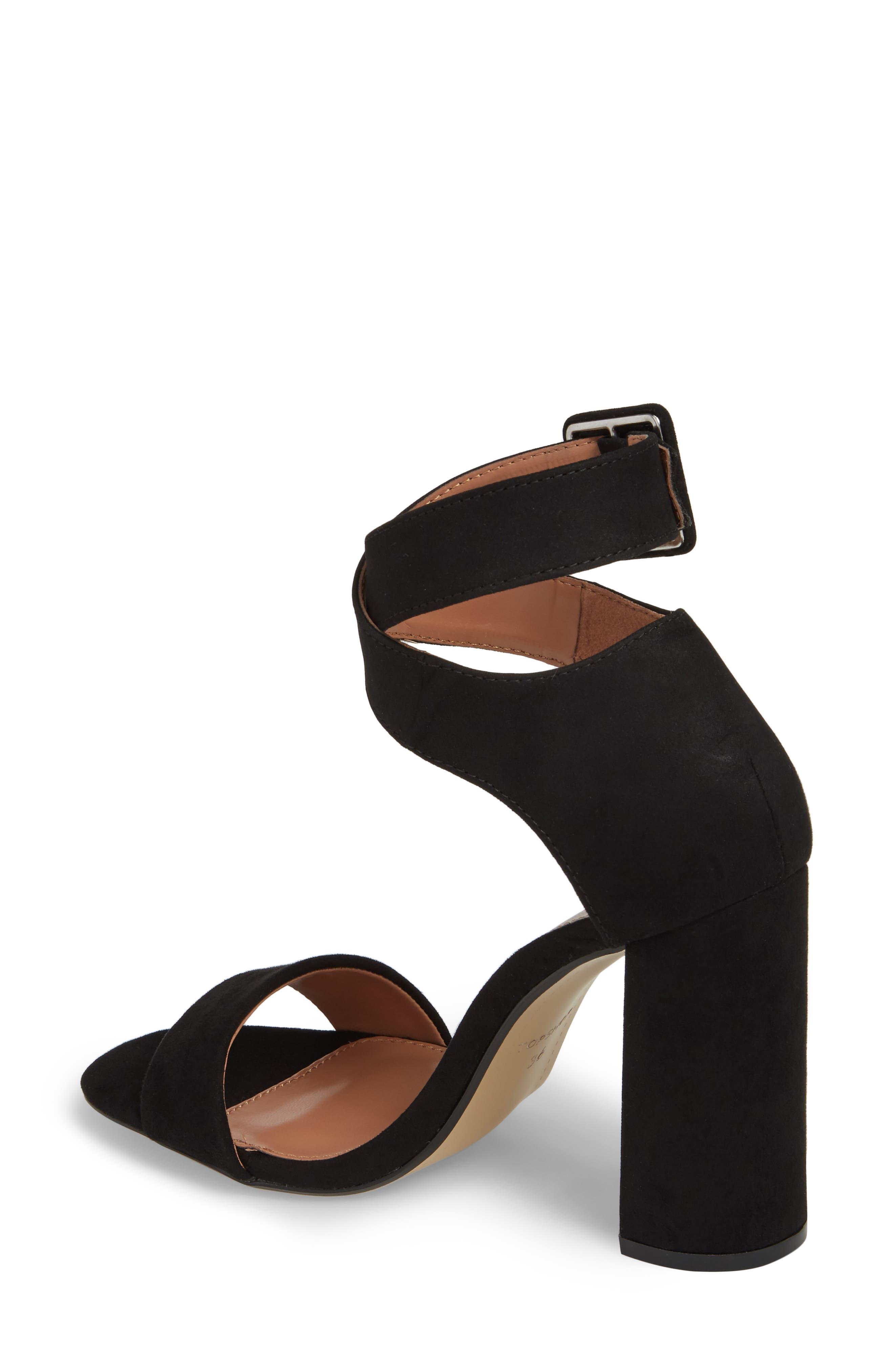 Sinitta Crossover Sandal,                             Alternate thumbnail 2, color,                             Black