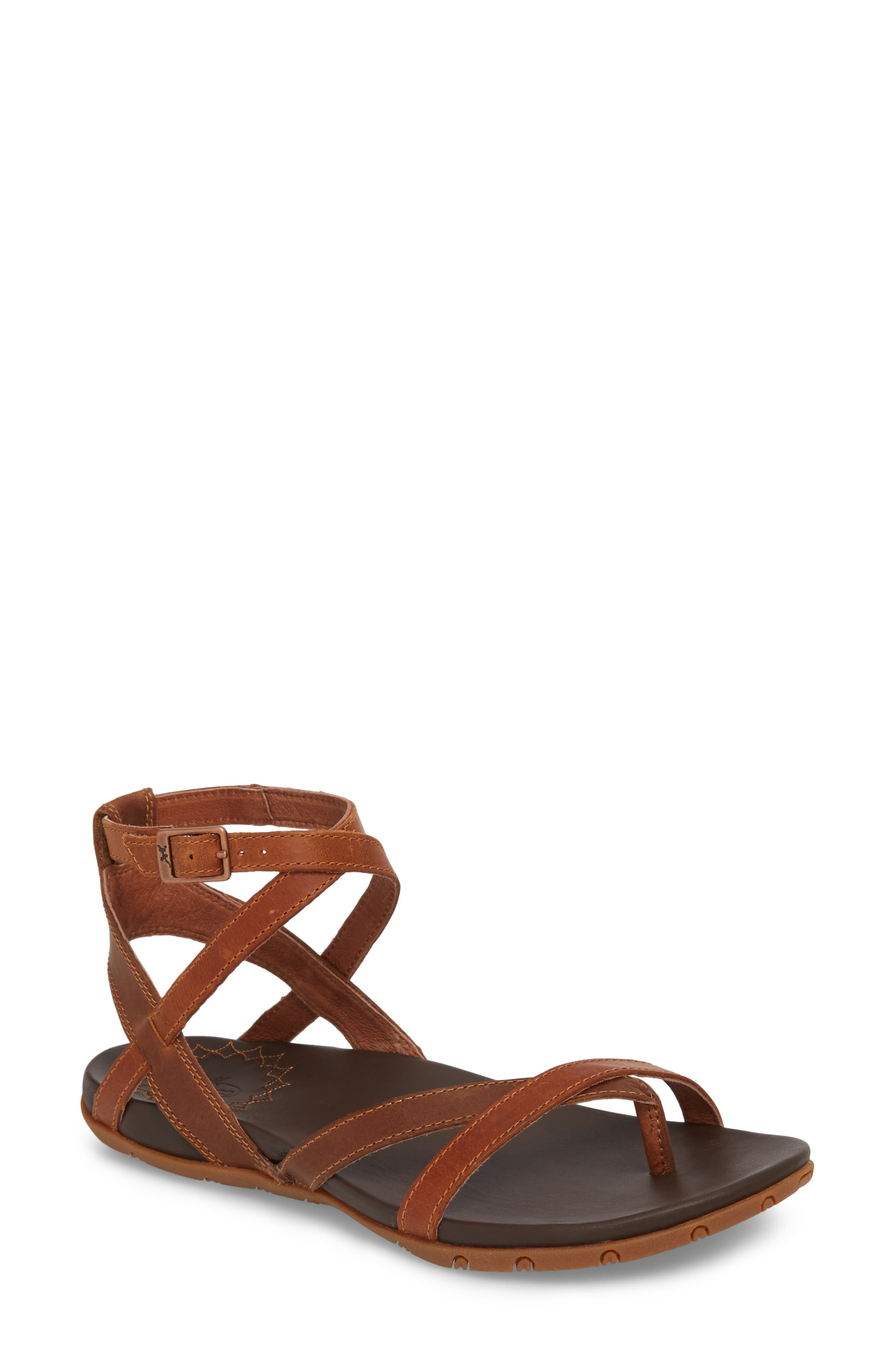 Juniper Sandal,                             Main thumbnail 1, color,                             Rust Leather