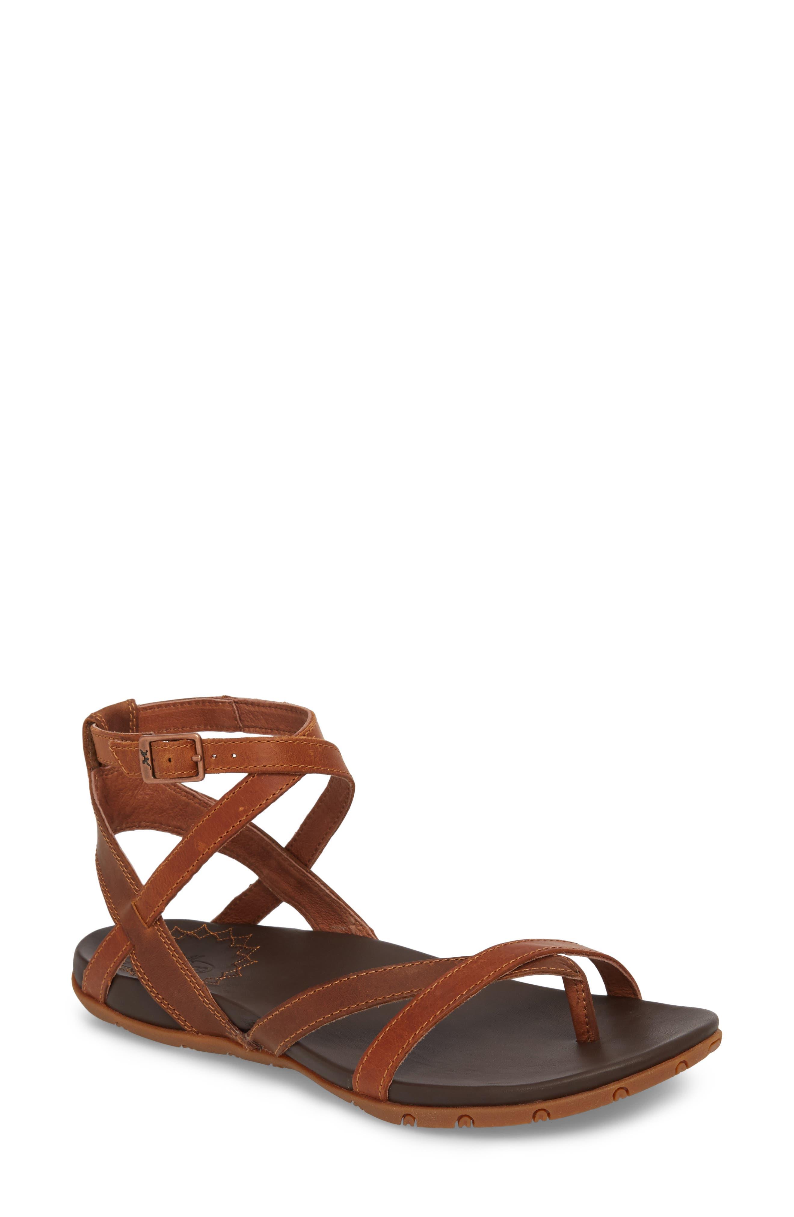 Juniper Sandal,                         Main,                         color, Rust Leather