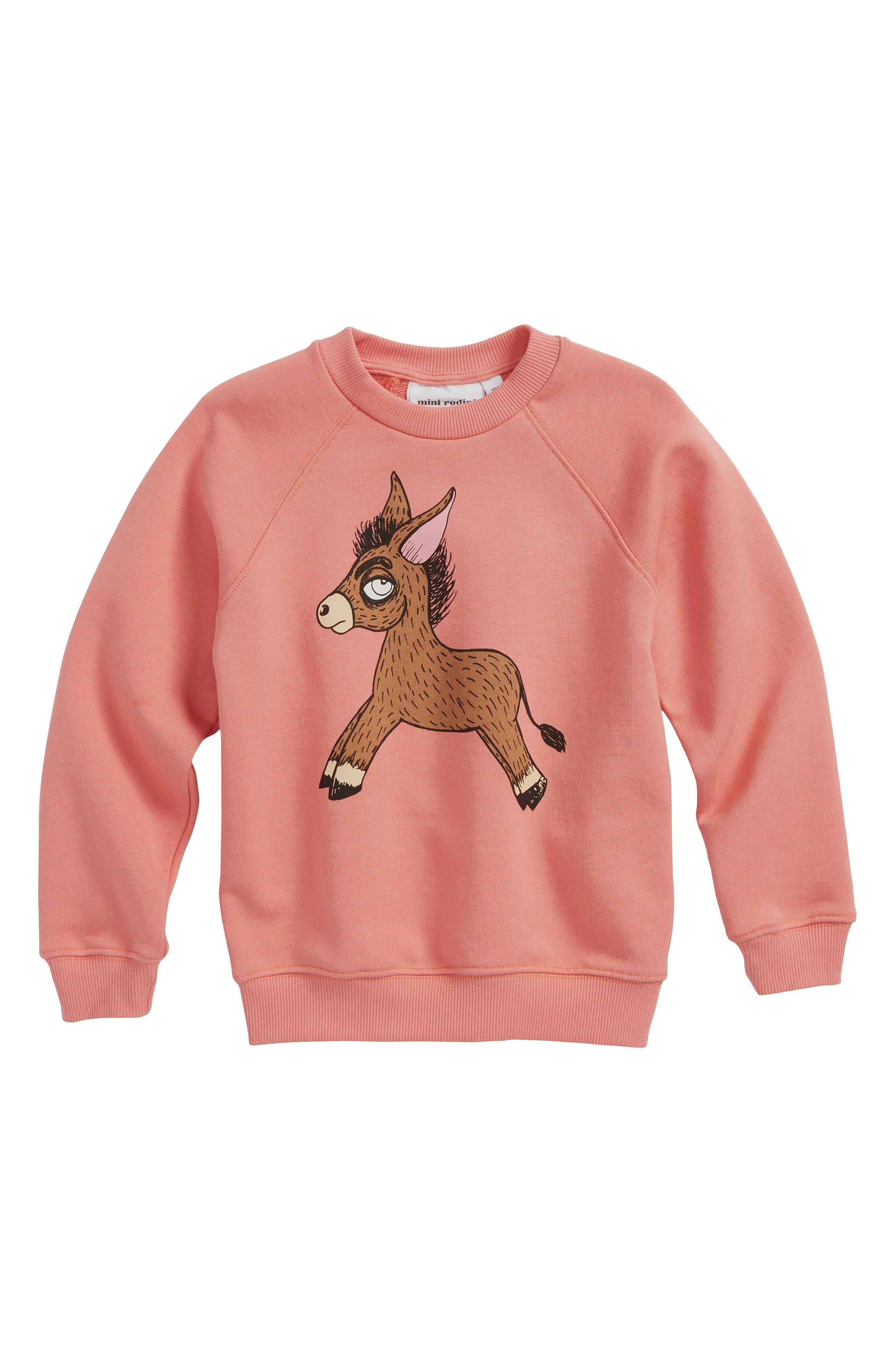 Donkey Organic Cotton Sweatshirt,                             Main thumbnail 1, color,                             Pink
