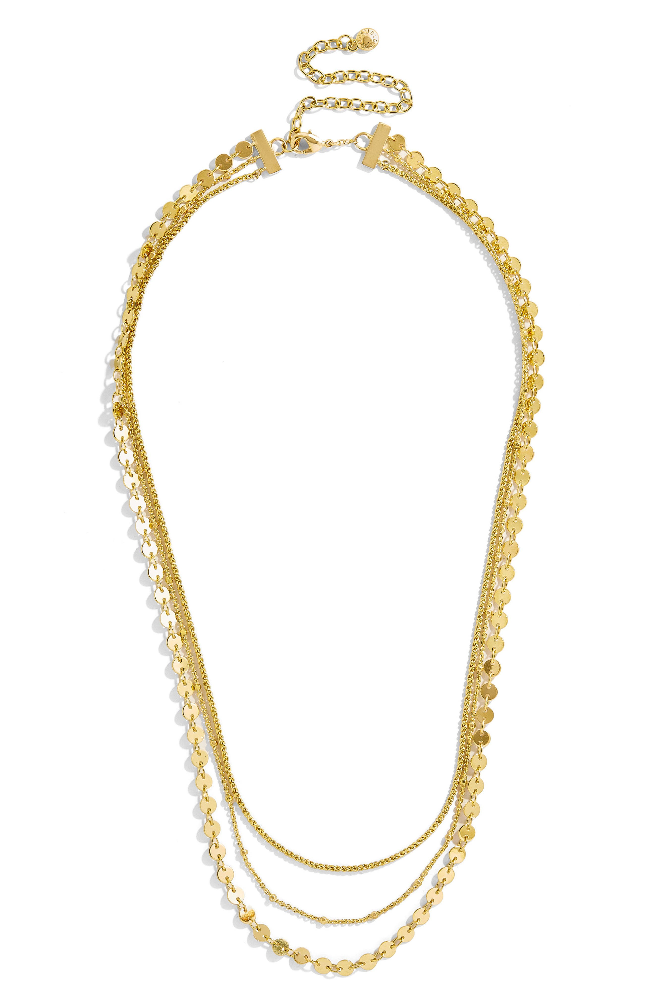 Ariana Multistrand Necklace,                         Main,                         color, Gold