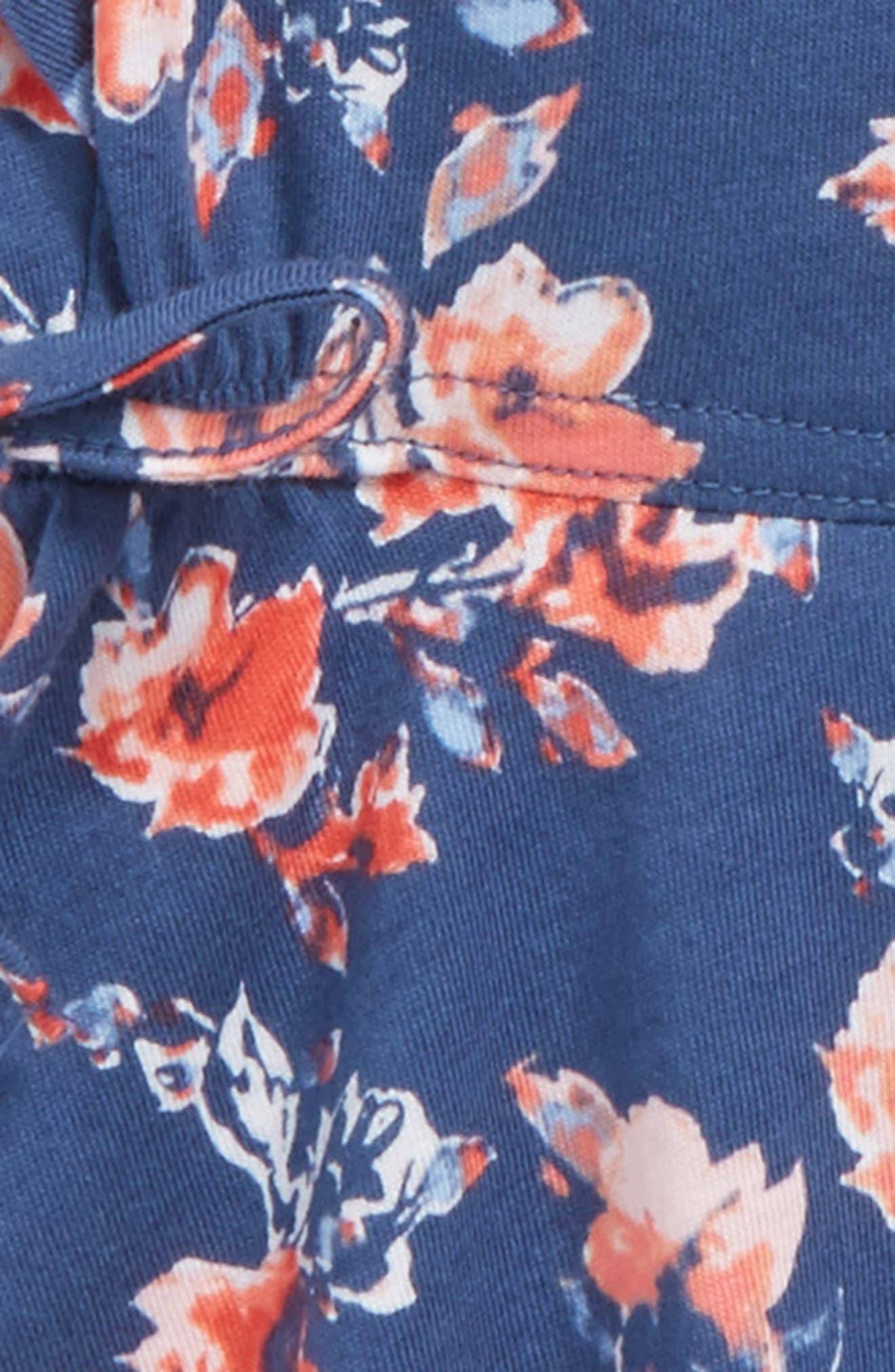 Ruffle Dress,                             Alternate thumbnail 3, color,                             Indigo Fade