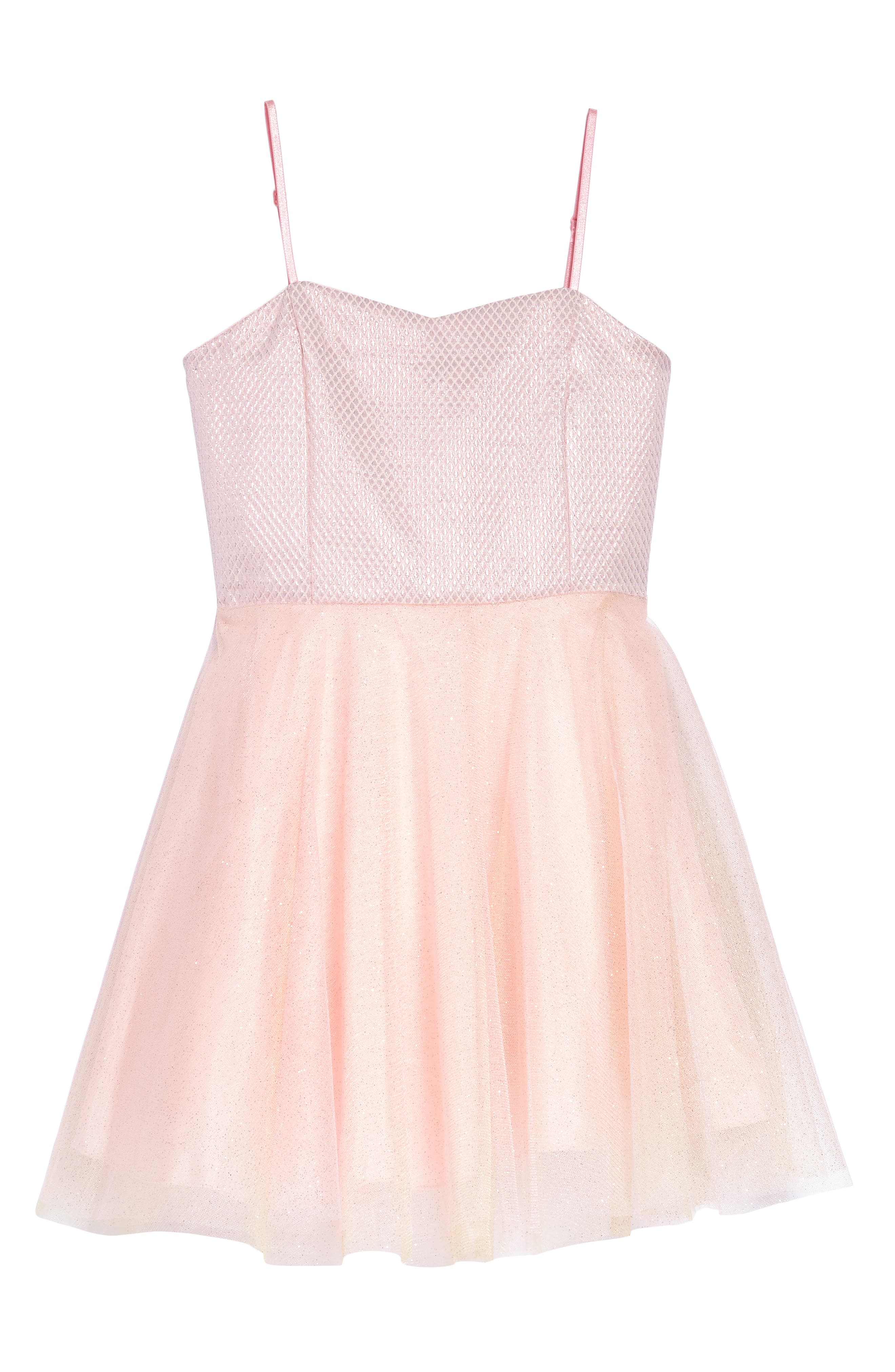 Iridescent Tulle Dress,                         Main,                         color, Pink
