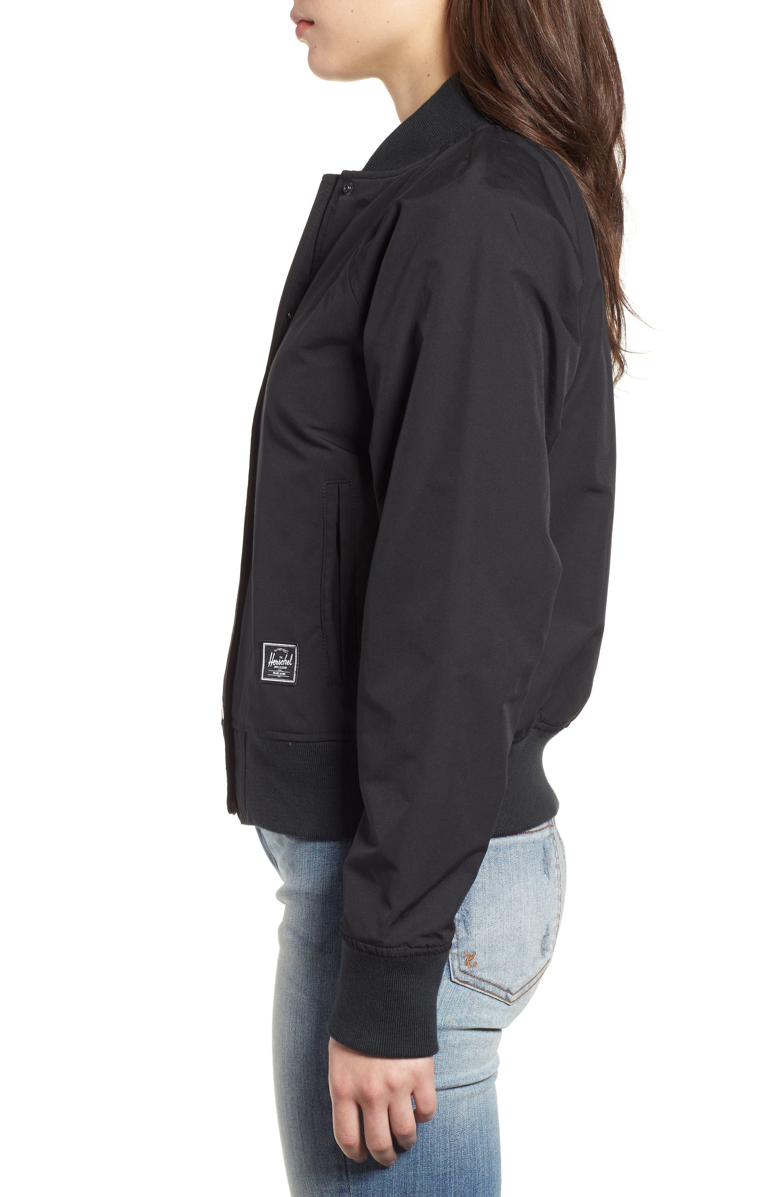 Varsity Jacket,                             Alternate thumbnail 3, color,                             Black/ Shadow