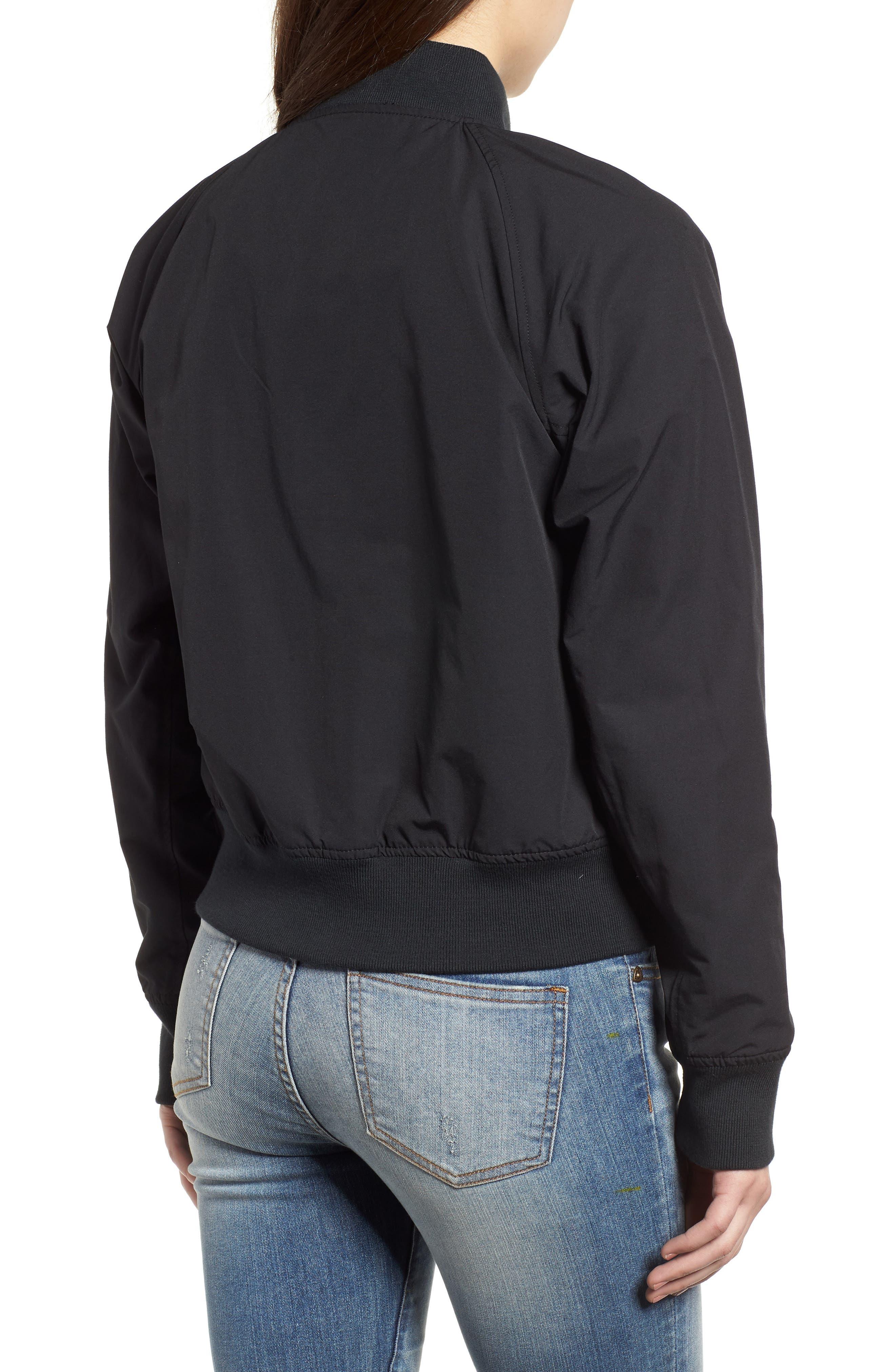Varsity Jacket,                             Alternate thumbnail 2, color,                             Black/ Shadow