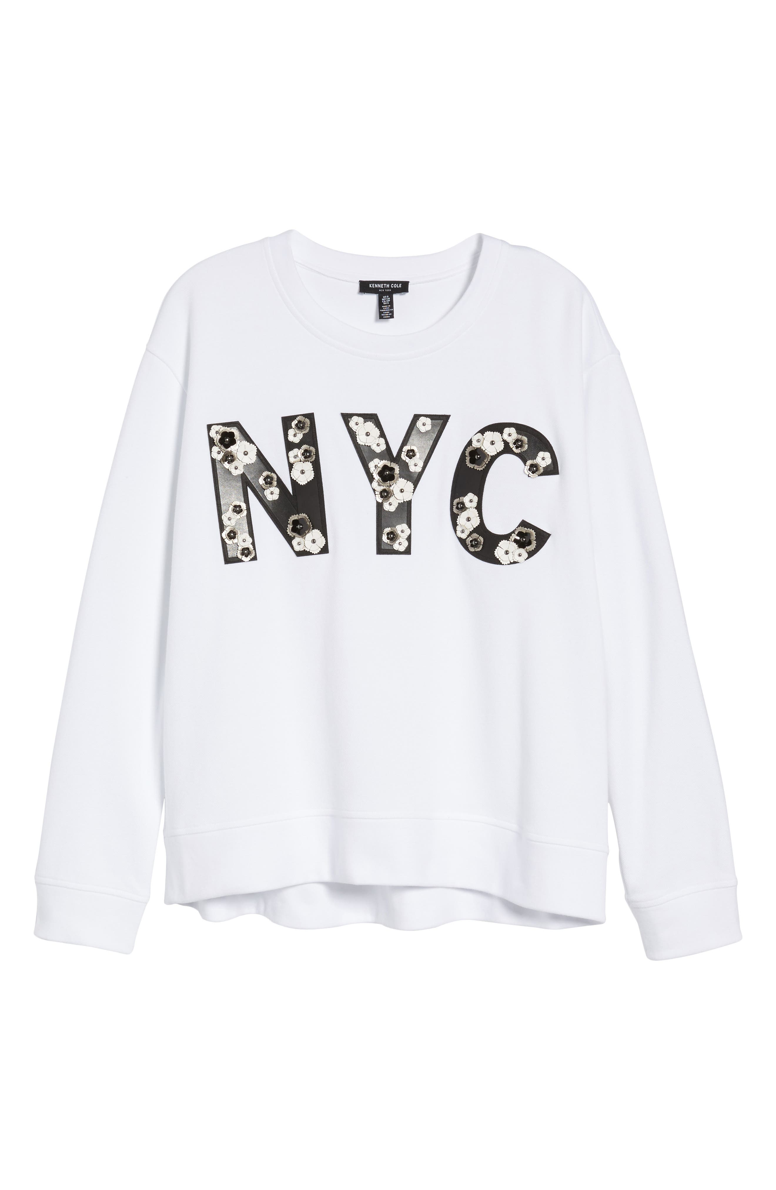 NYC Sweatshirt,                             Alternate thumbnail 7, color,                             White