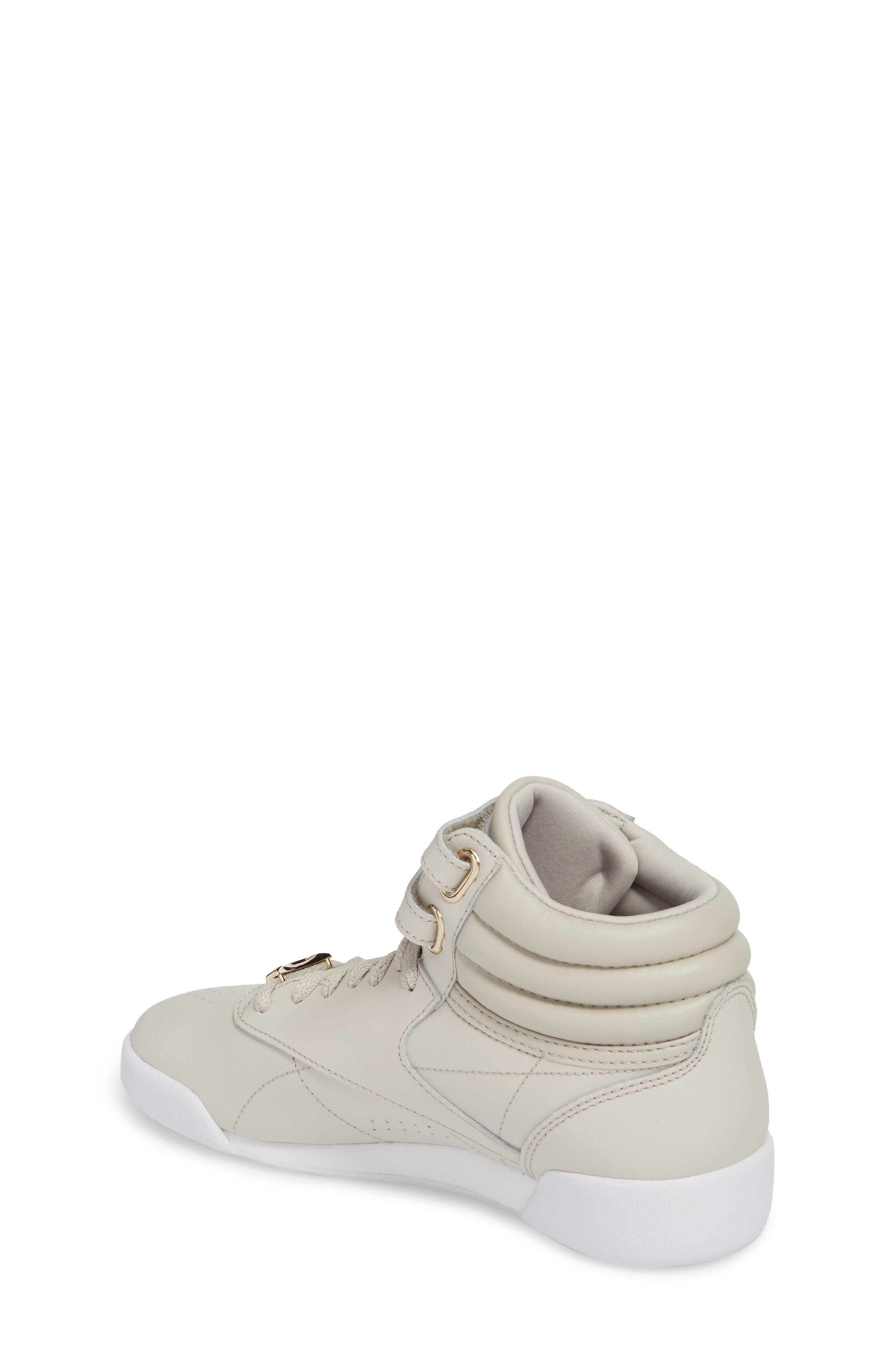 Freestyle Hi Muted Sneaker,                             Alternate thumbnail 2, color,                             Sandstone/ White