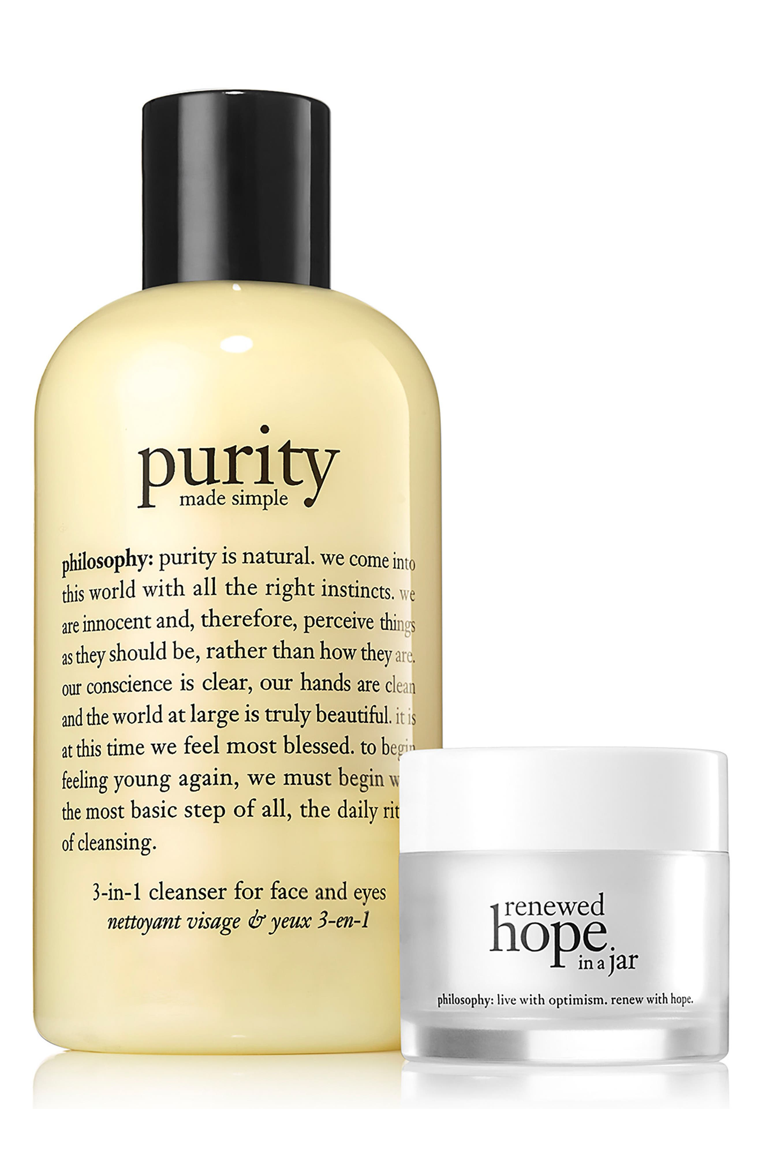 philosophy purity made simple & renewed hope duo