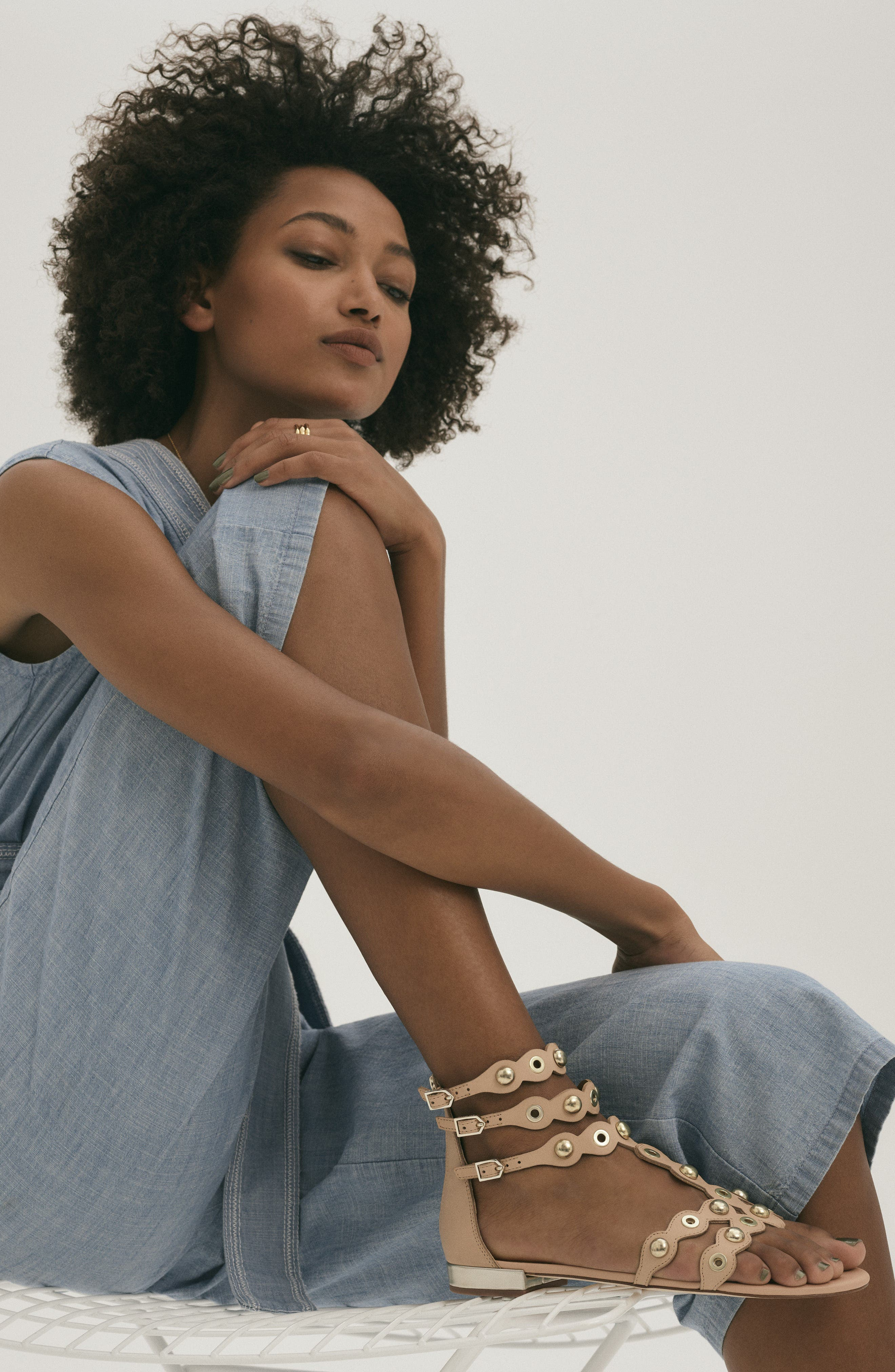 Crop Chambray Jumpsuit,                             Alternate thumbnail 2, color,                             Ice Lagoon