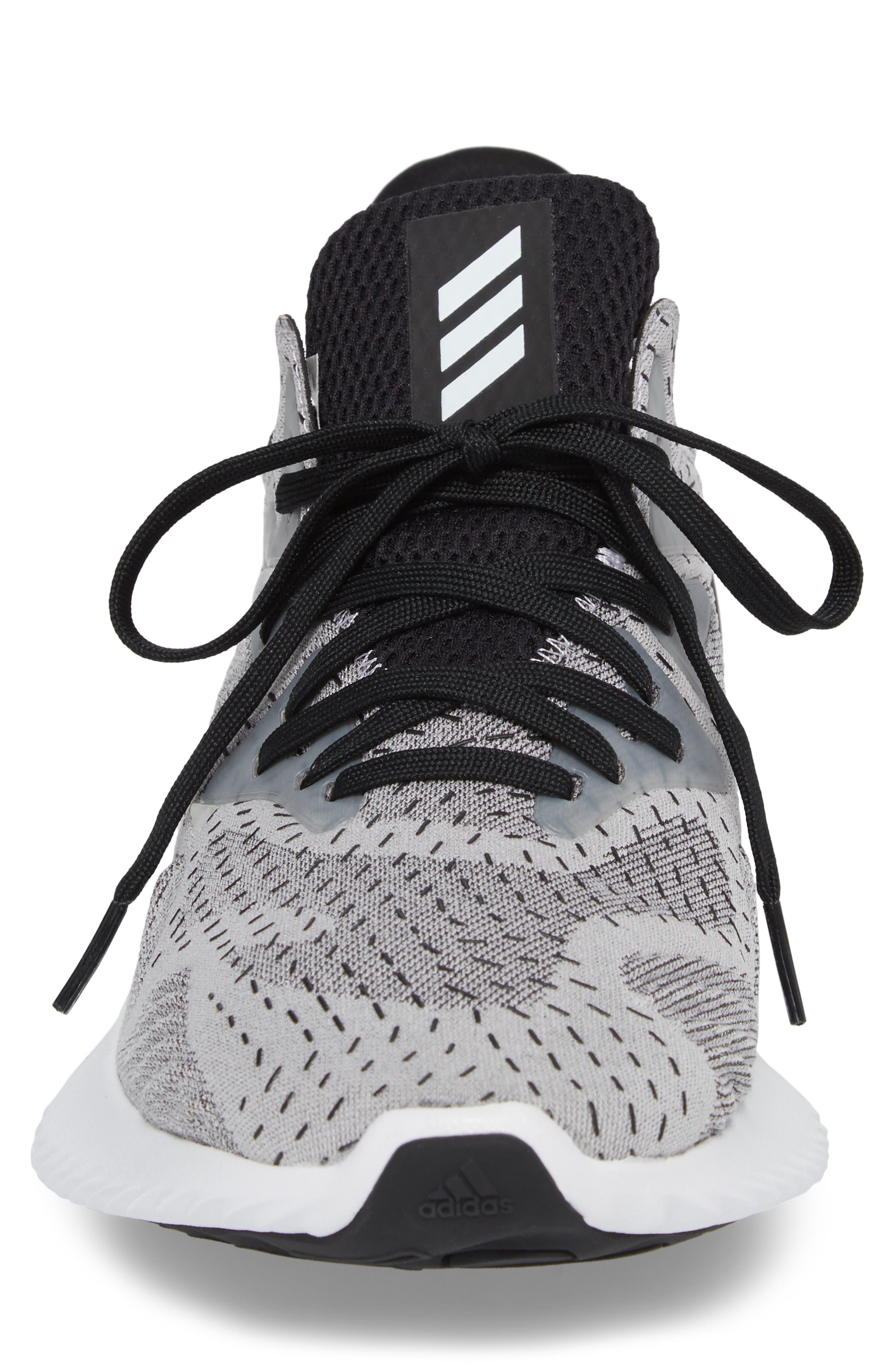 AlphaBounce Beyond Knit Running Shoe,                             Alternate thumbnail 4, color,                             White/ Core Black