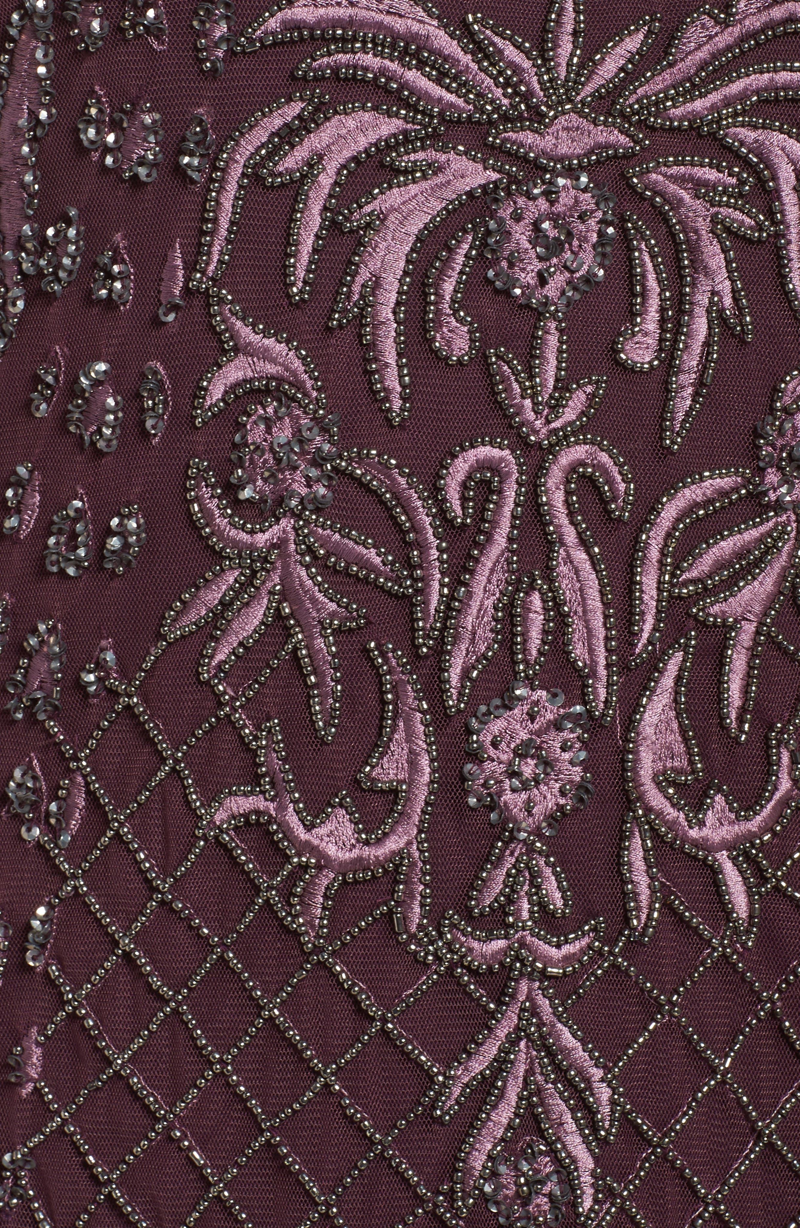Embellished Gown,                             Alternate thumbnail 5, color,                             Plum