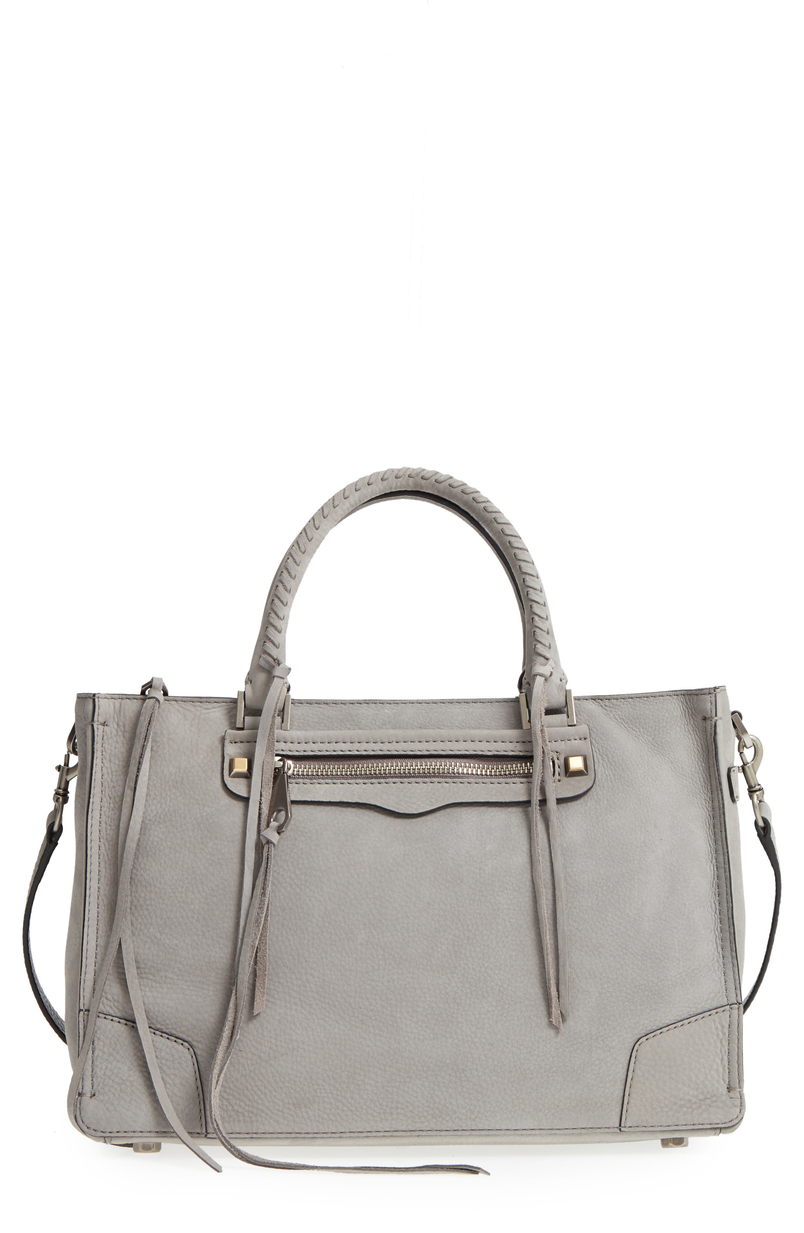 'REGAN' SATCHEL - GREY