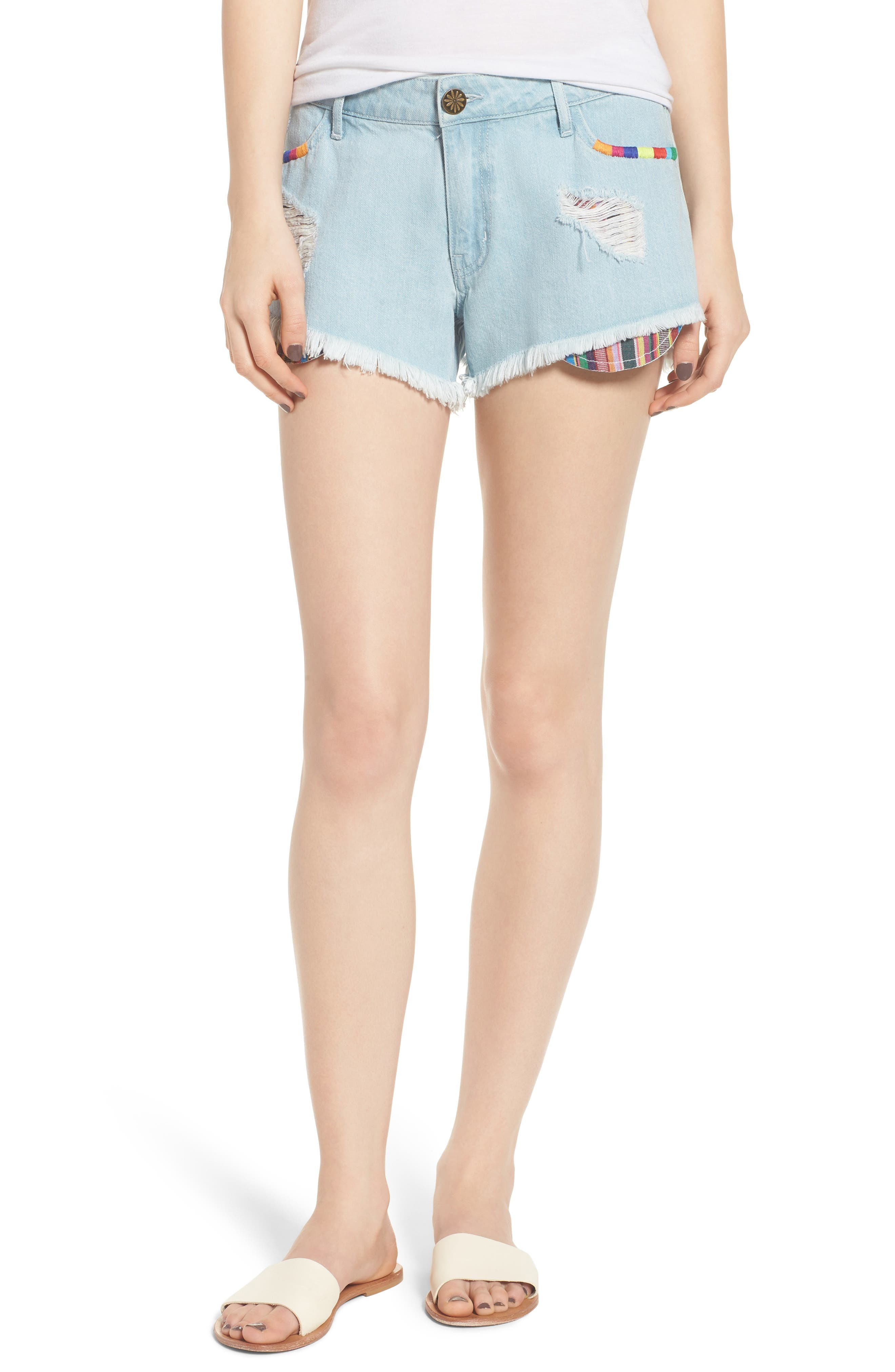 Show Me Your Mumu Cabo Cutoff Denim Shorts (Crystal Cove)