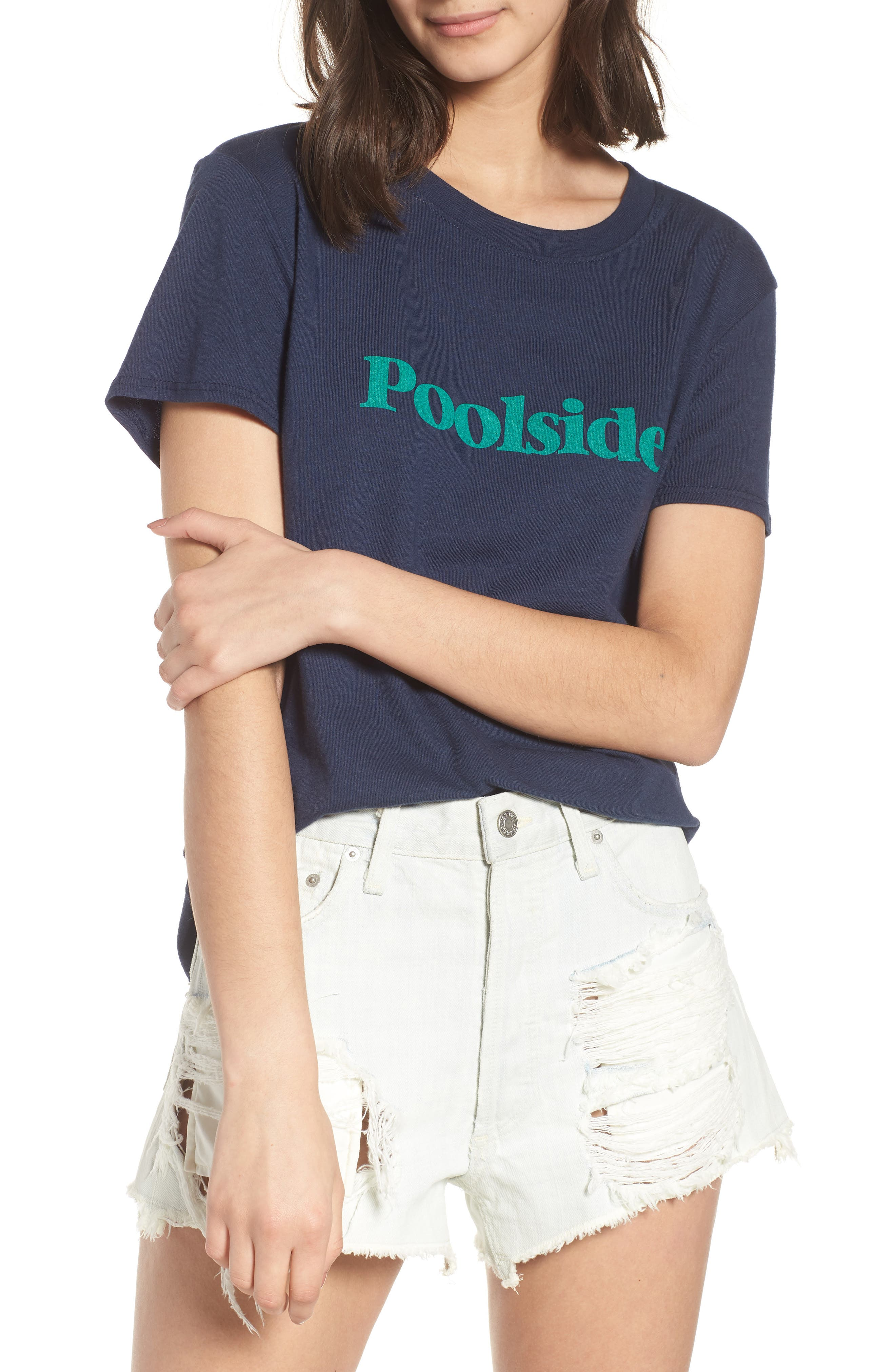 Poolside Graphic Tee,                         Main,                         color, Navy